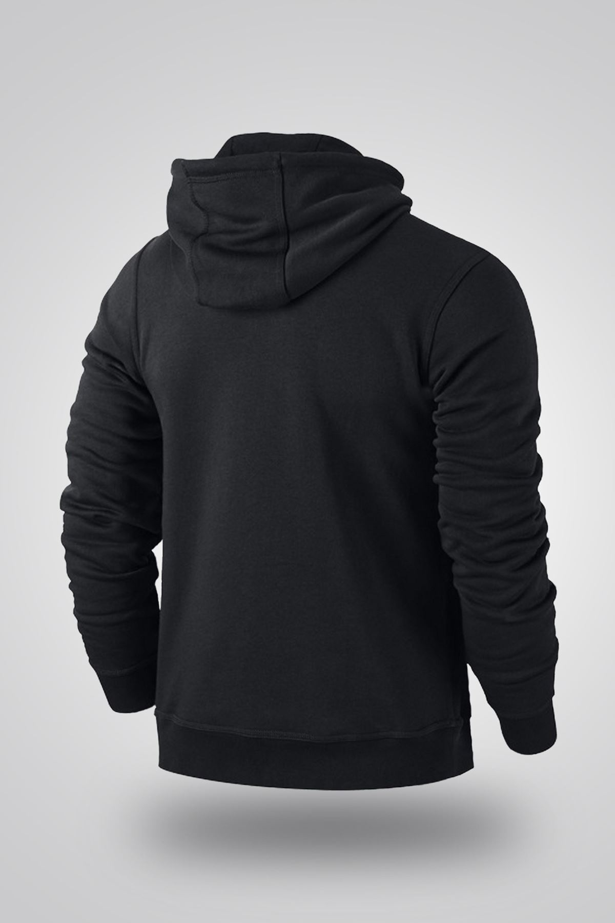 Air Jordan 04 Siyah NBA Erkek Kapşonlu Sweatshirt - Hoodie