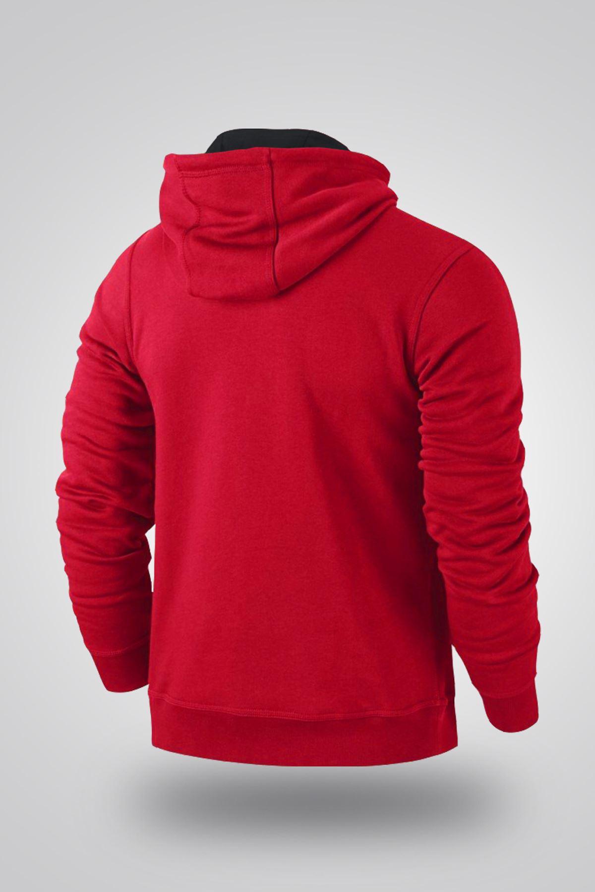 Air Jordan 05 Kırmızı NBA Erkek Kapşonlu Sweatshirt - Hoodie