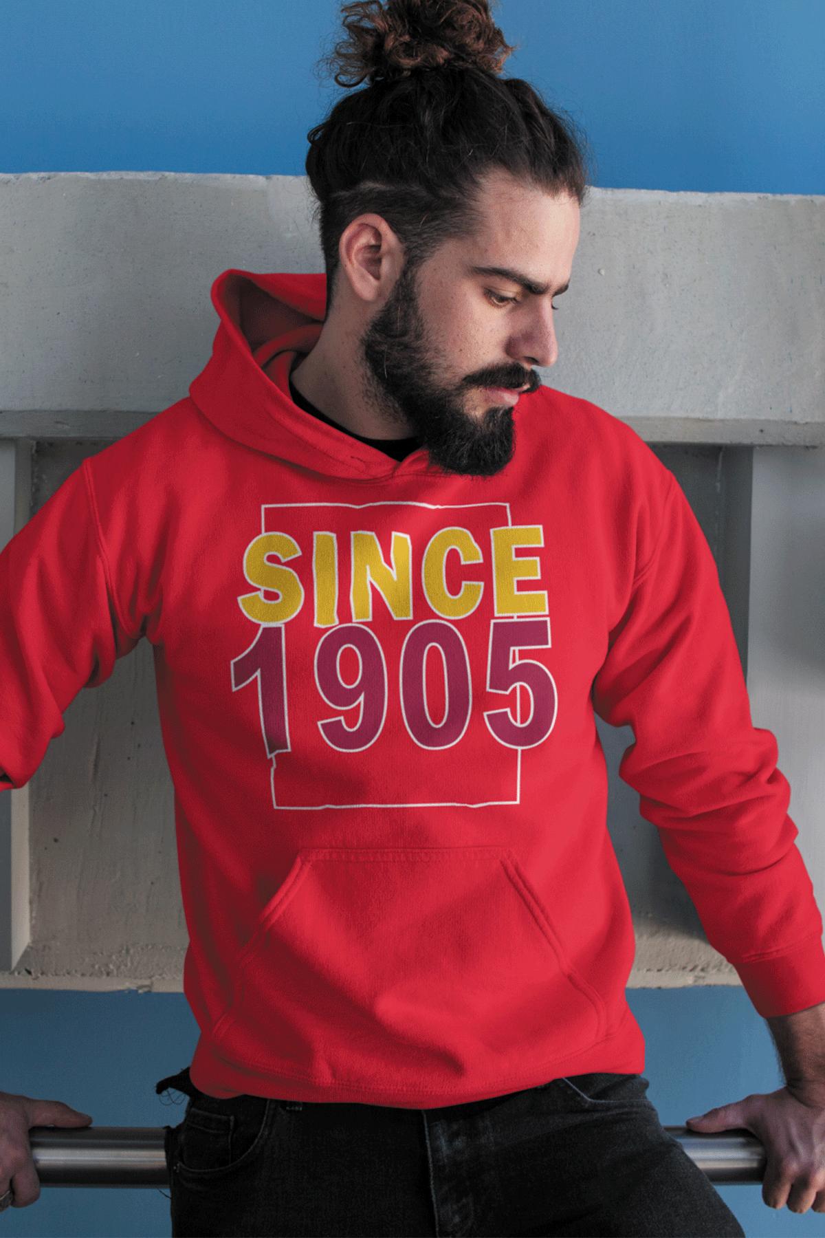 Since 1905 Kırmızı GS Erkek Kapşonlu Sweatshirt - Hoodie
