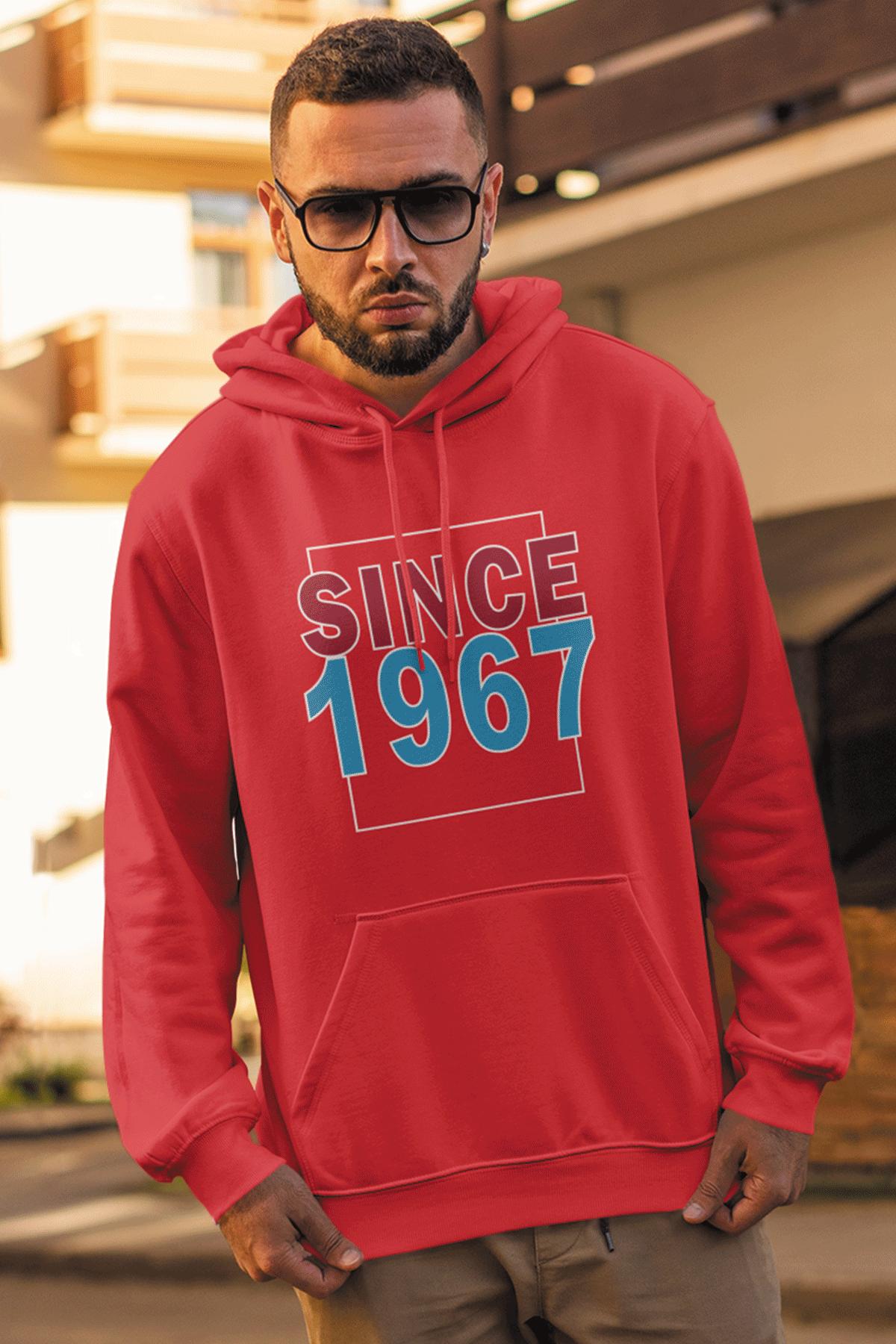 Since 1967 Kırmızı Erkek Kapşonlu Sweatshirt - Hoodie