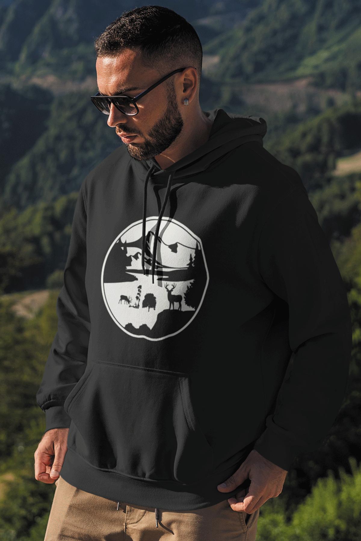 View Siyah Erkek Kapşonlu Sweatshirt - Hoodie