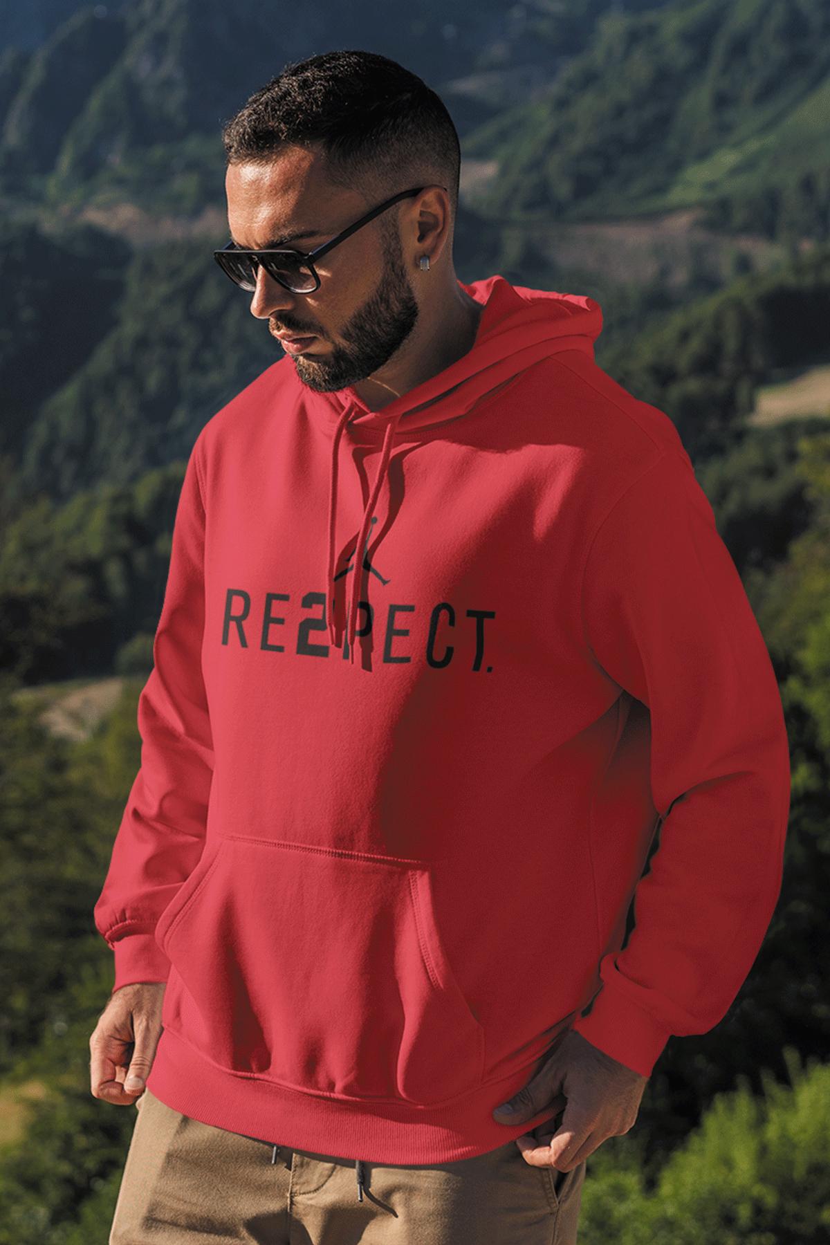 Air Jordan 14 Kırmızı NBA Erkek Kapşonlu Sweatshirt - Hoodie