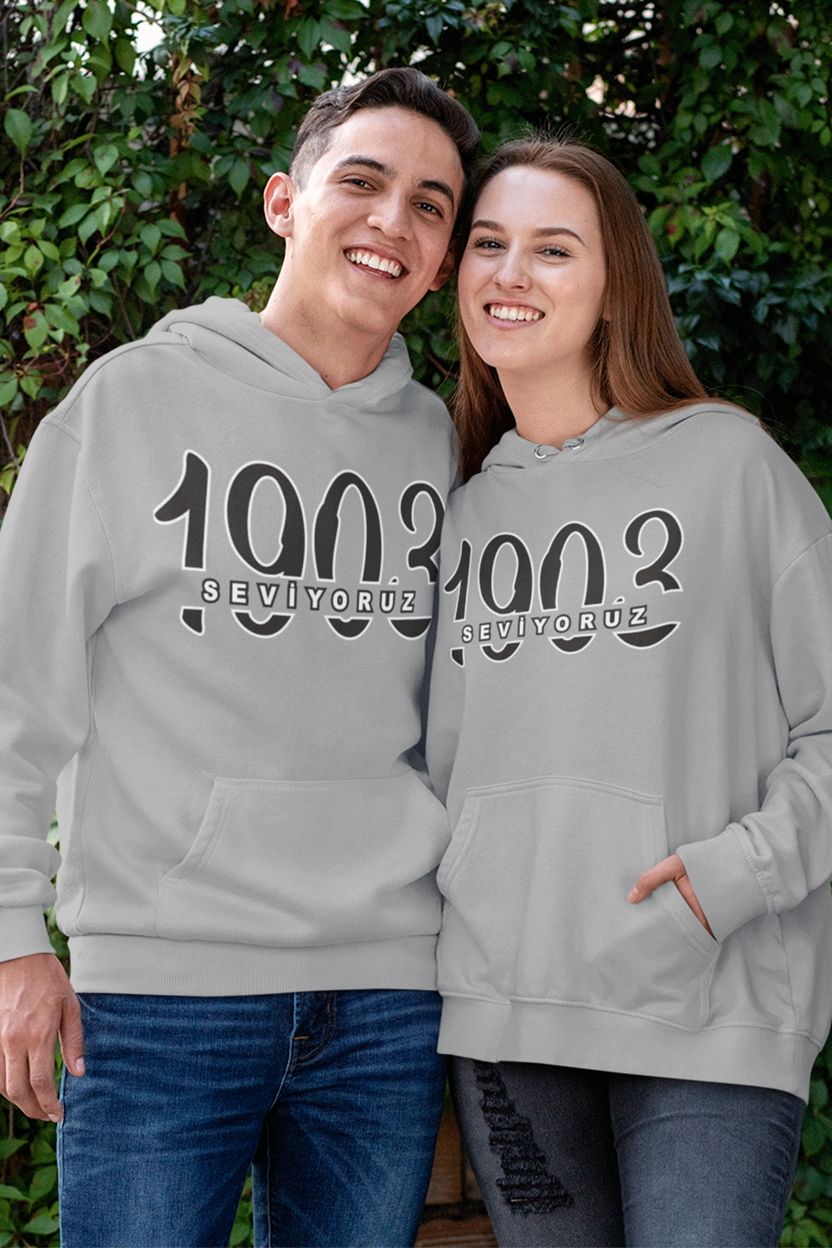 Sevgili Kombini BJK 02 Gri Kapşonlu Sweatshirt - Tek Ürün Fiyatıdır.