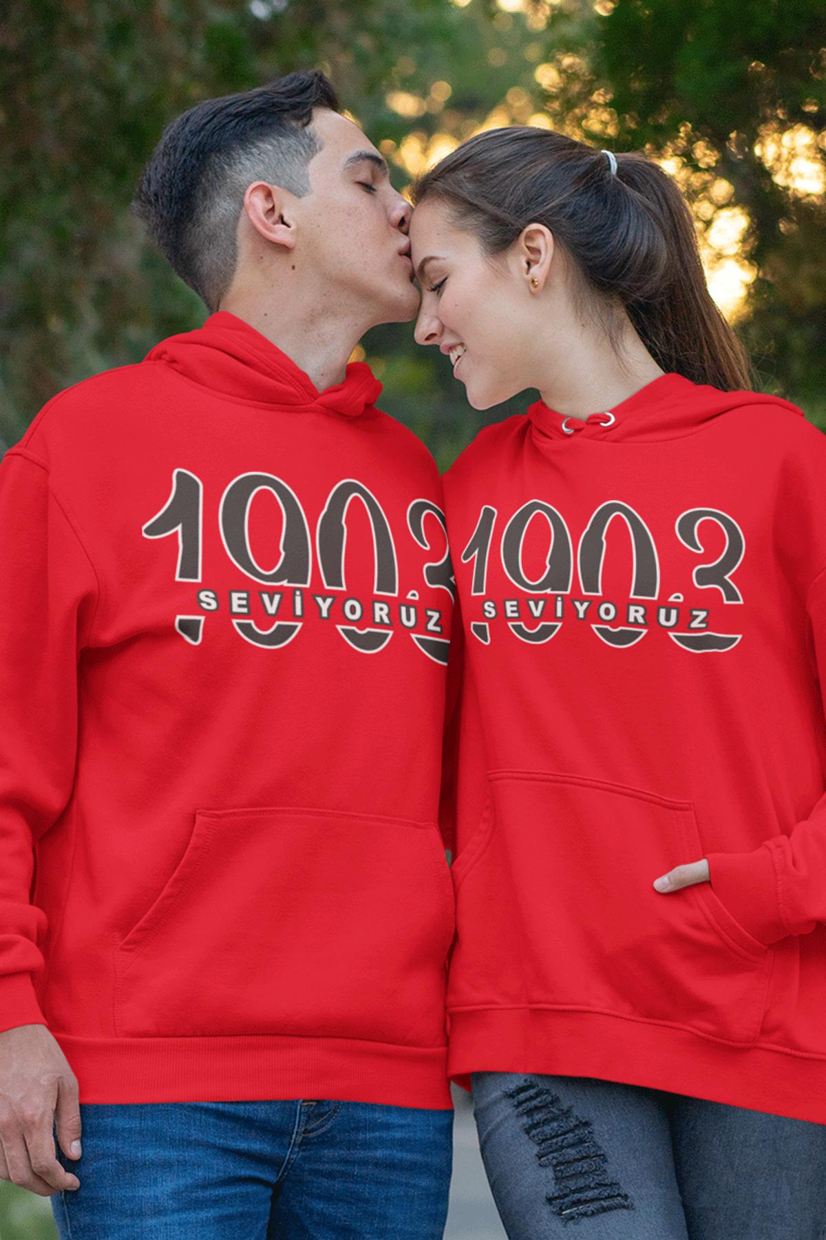 Sevgili Kombini BJK 02 Kırmızı Kapşonlu Sweatshirt - Tek Ürün Fiyatıdır.