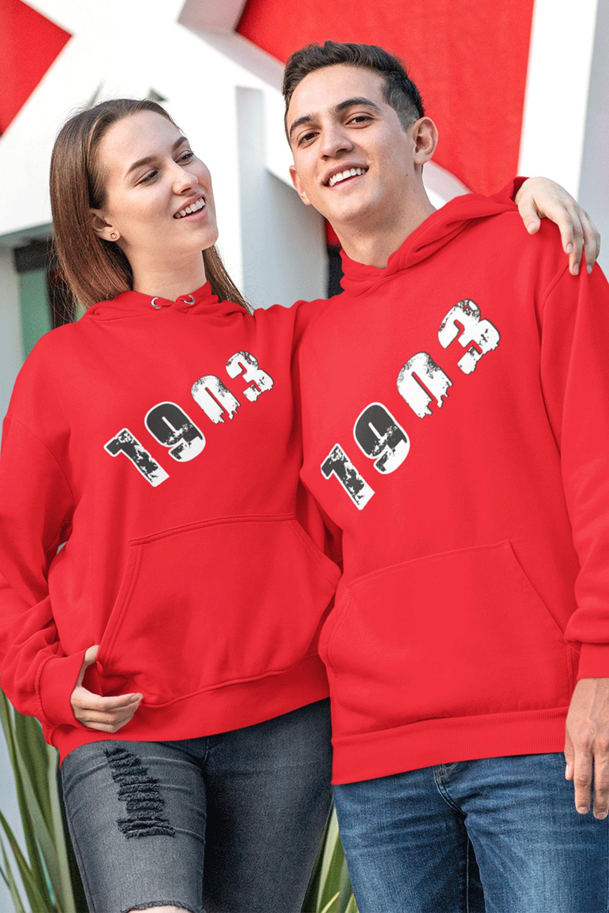 Sevgili Kombini BJK 01-1 Kırmızı Kapşonlu Sweatshirt - Tek Ürün Fiyatıdır.