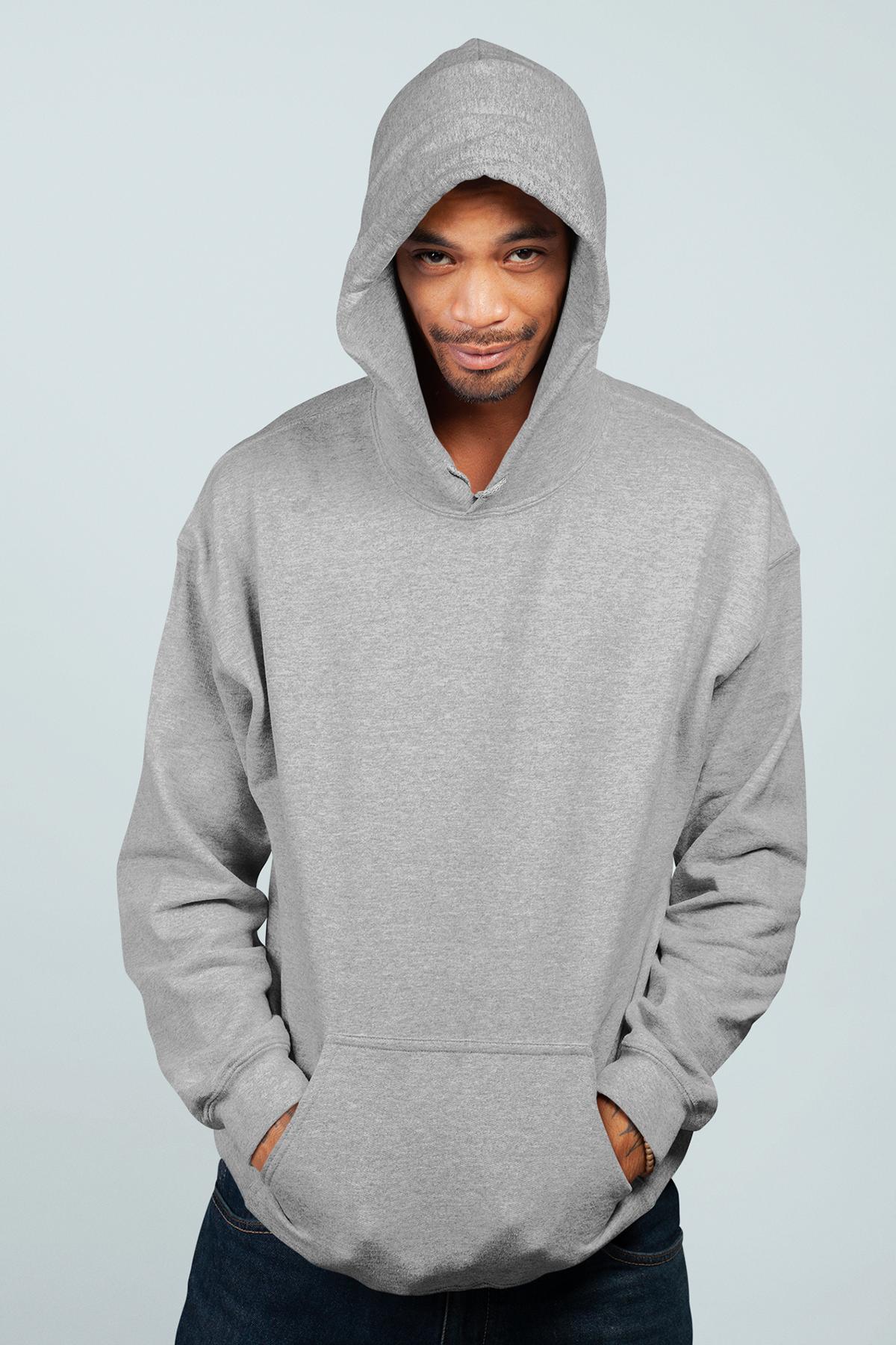 Gri Erkek Kapşonlu Sweatshirt - Hoodie