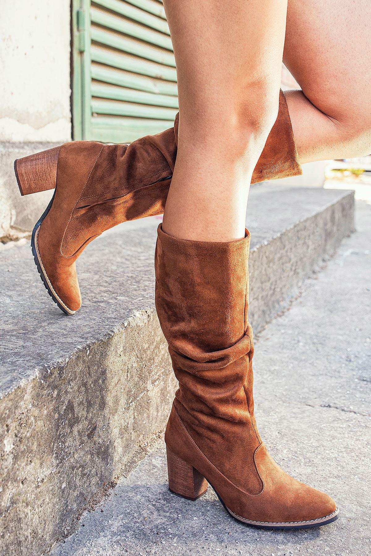 Maria Taba Süet Kadın Çizme