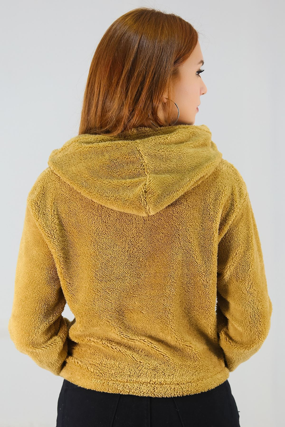 Kapşonlu Polar Sweat Camel - 8142.316.