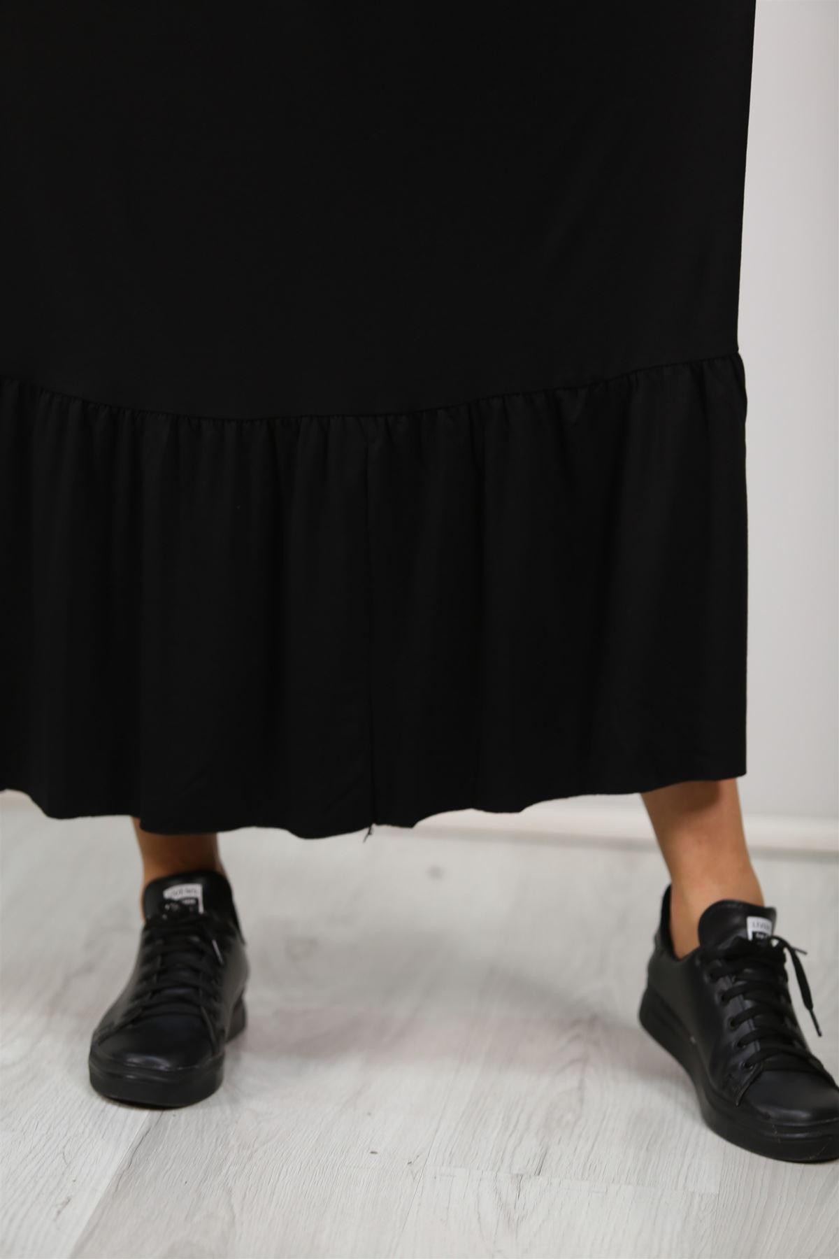 İp Askılı Elbise Siyah - 20270.1234.