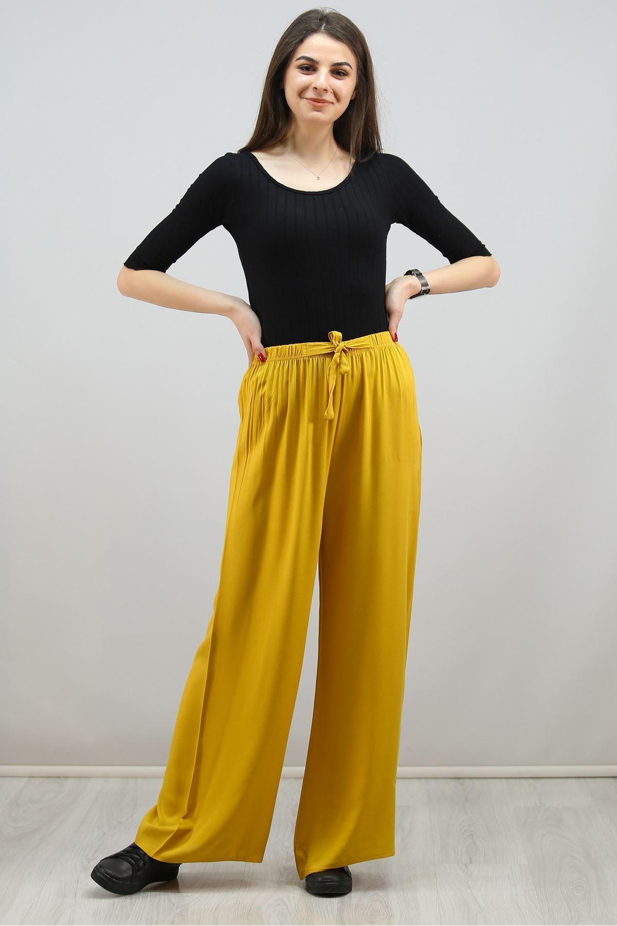 Dokuma Pantolon Sarı - 1005.1095.