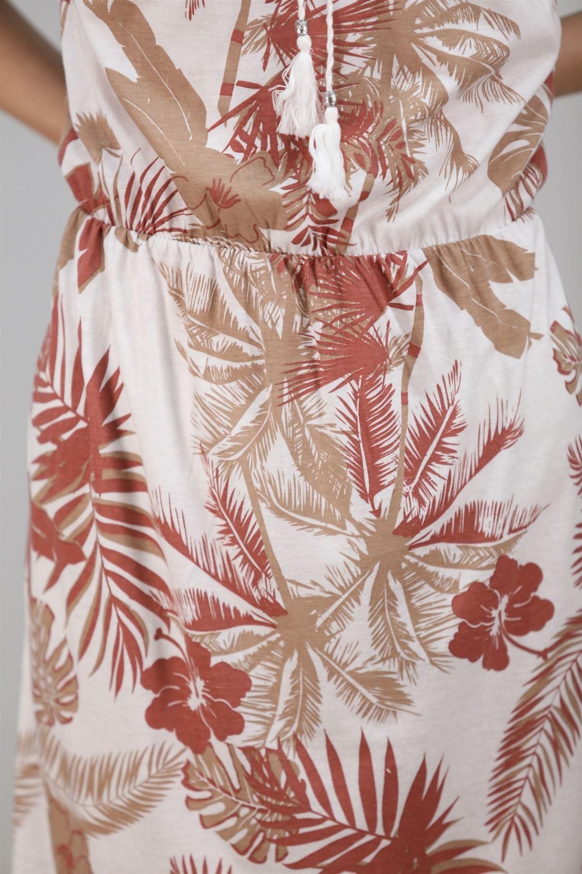 Sıfır Kol Elbise Beyazvizon - 4280.1187.
