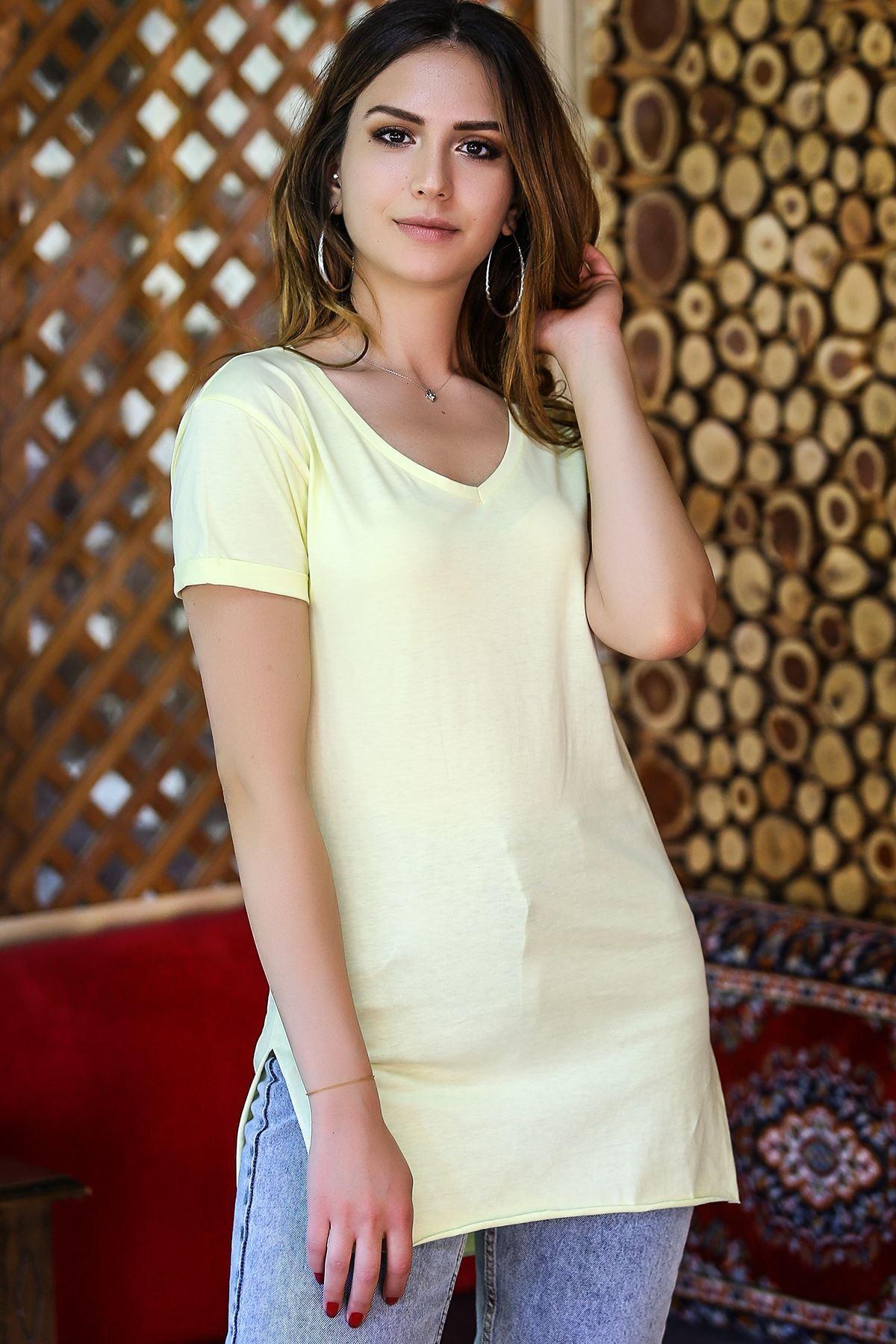 Penye Tunik Tişört Sarı - 1062.275.