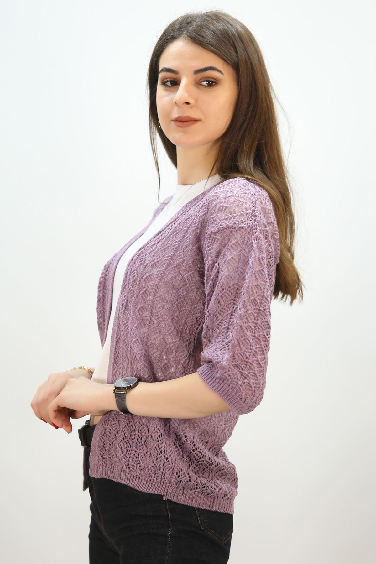 Ajurlu Hırka Lila - 3649.109.