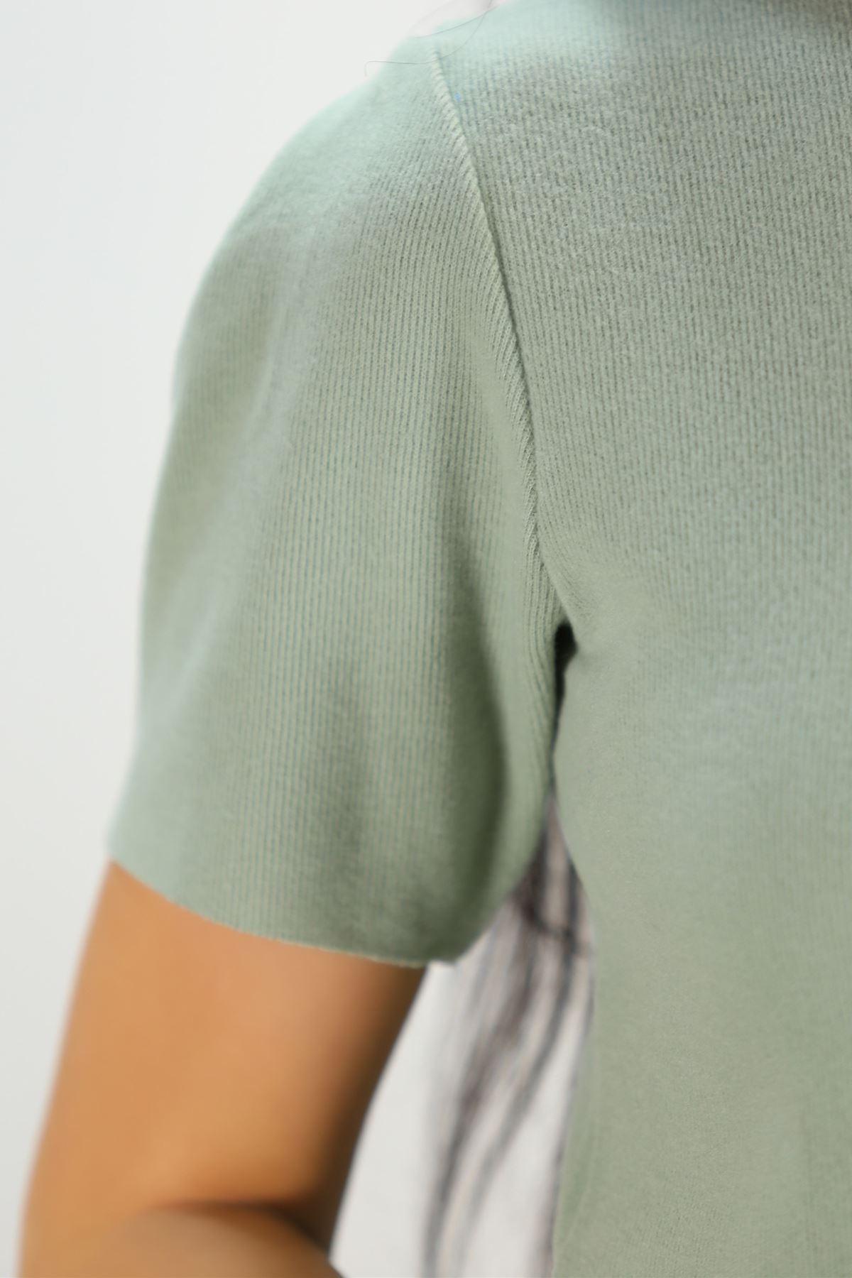 Crop Bluz Mintyeşili - 8068.1230.