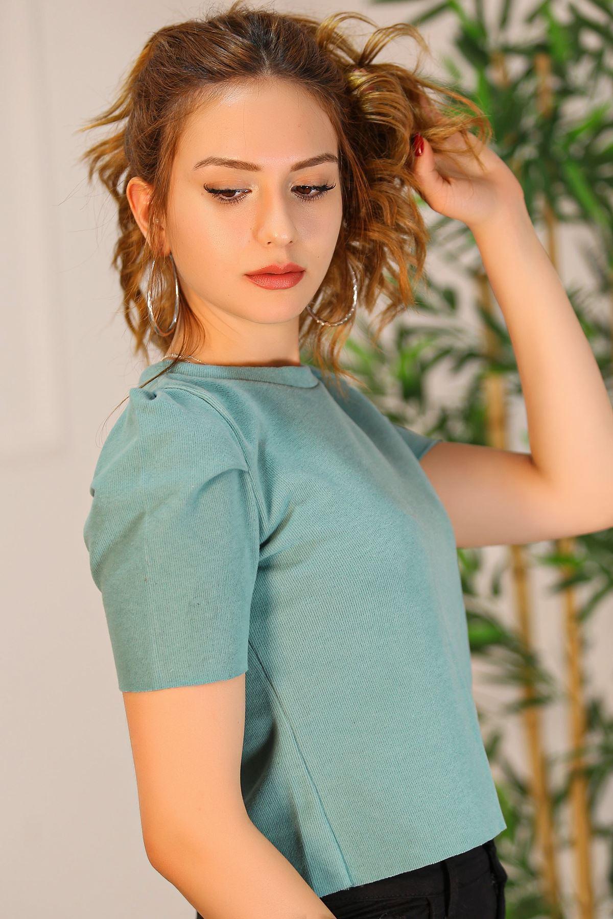 Crop Bluz Mintyeşili - 8069.1186.