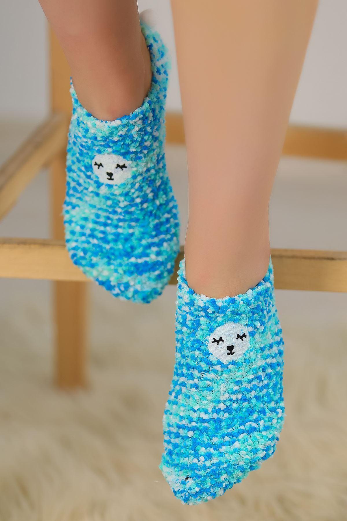 Ponponlu Çorap Mavi - 48950.1114.