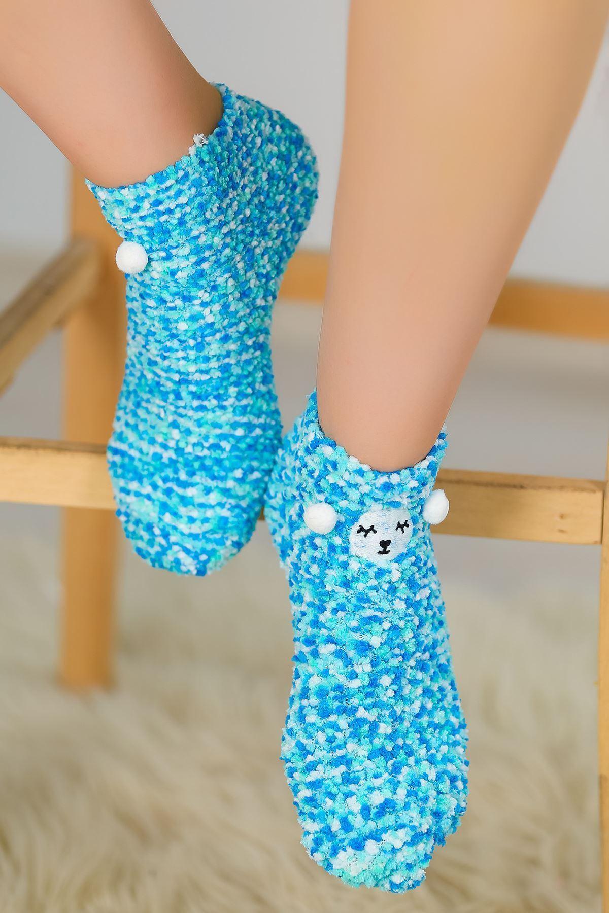 Ponponlu Çorap Mavi - 48900.1114.