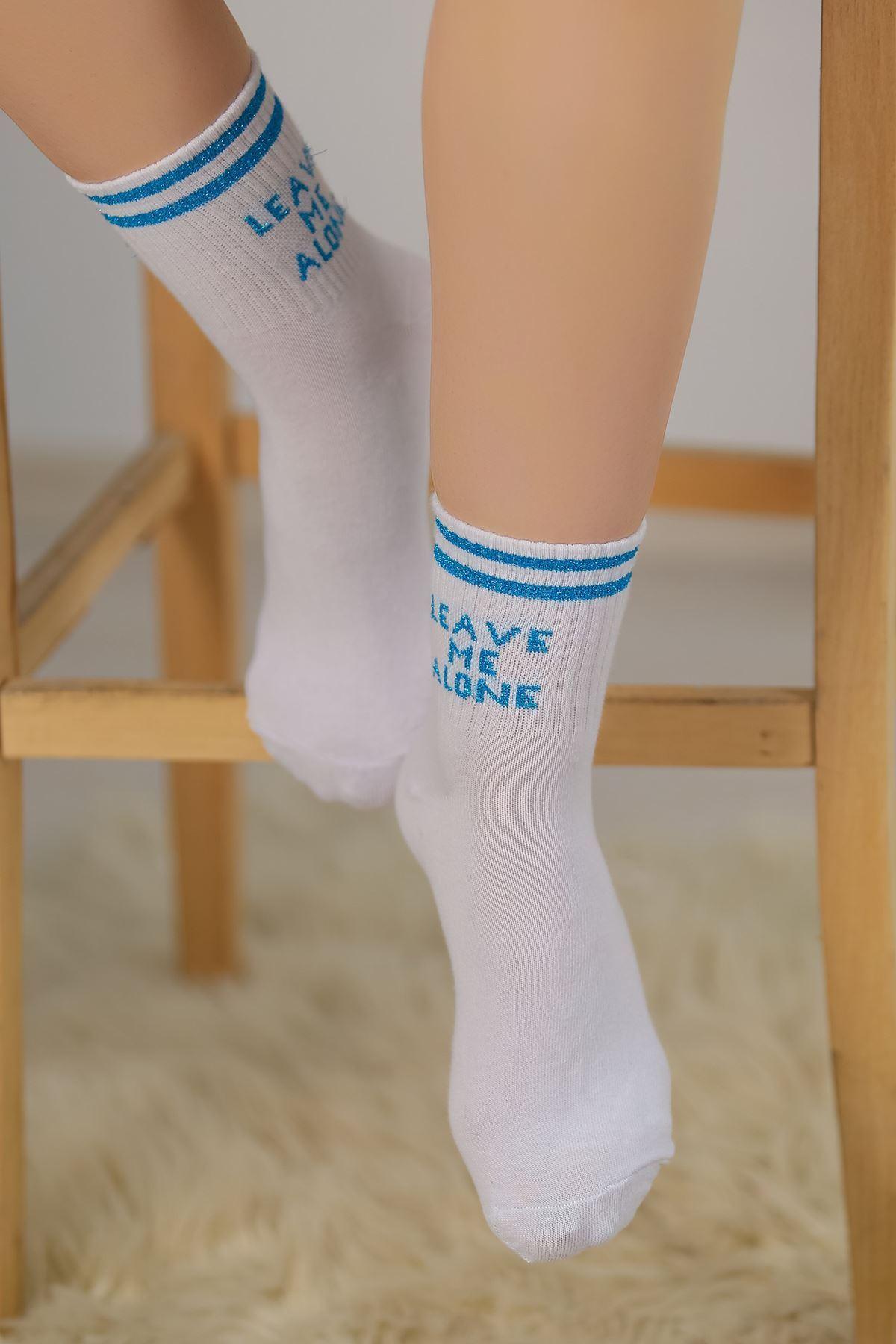 Soket Çorap Beyazmavi - 10102.1114.