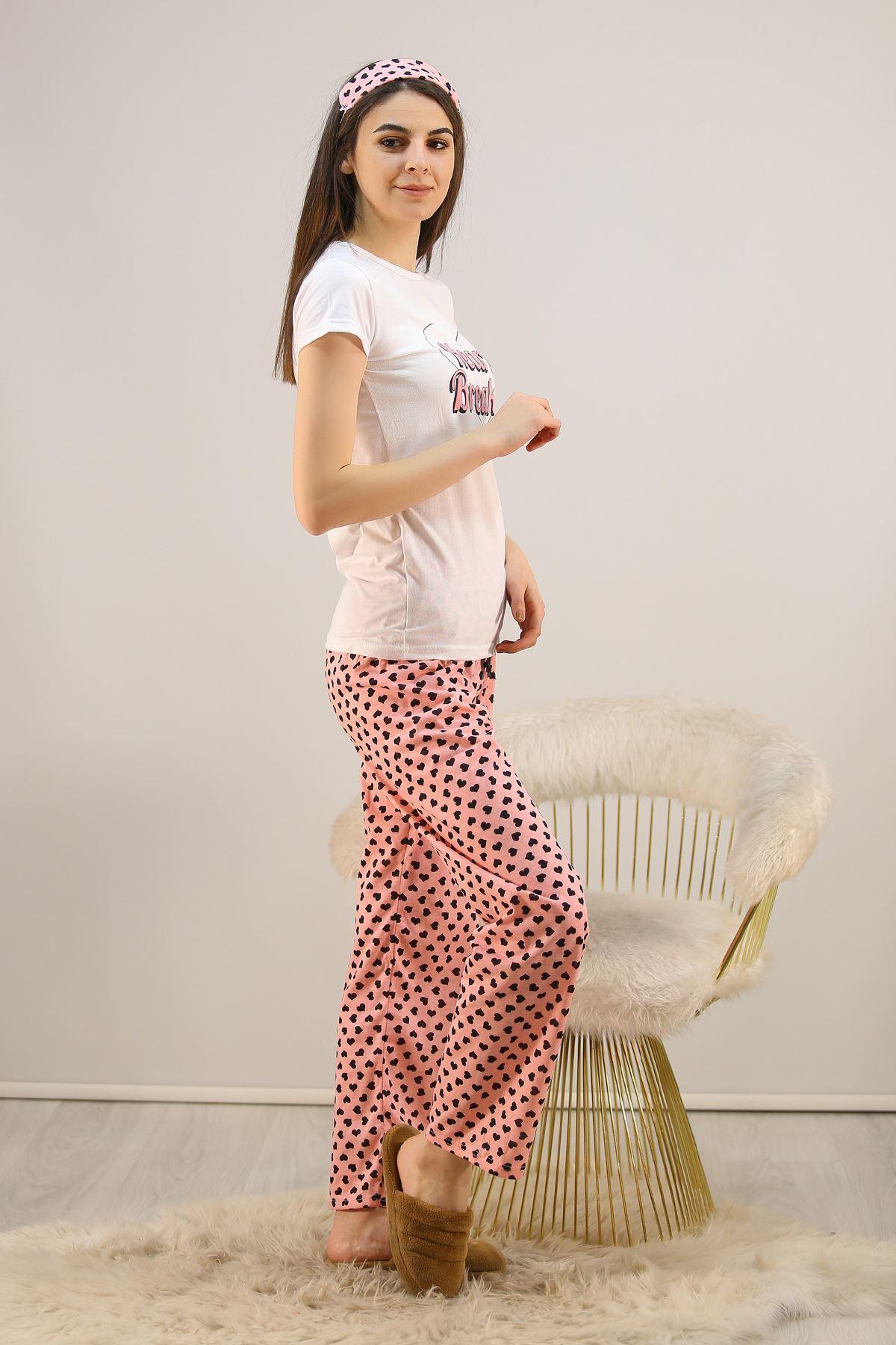 Baskılı Pijama Takımı Beyaz - 4712.102.