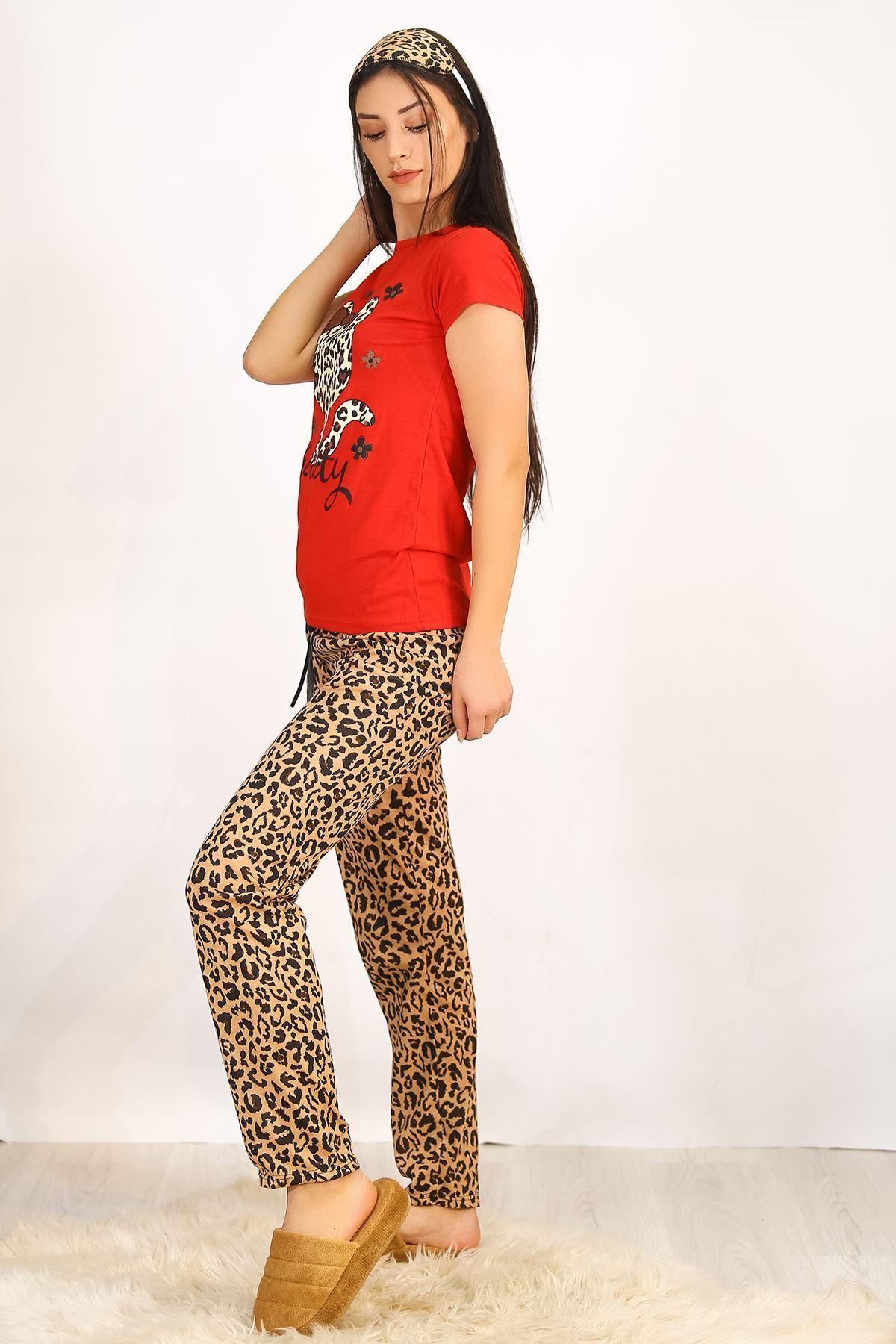 Baskılı Pijama Takımı Kırmızı - 4700.102.