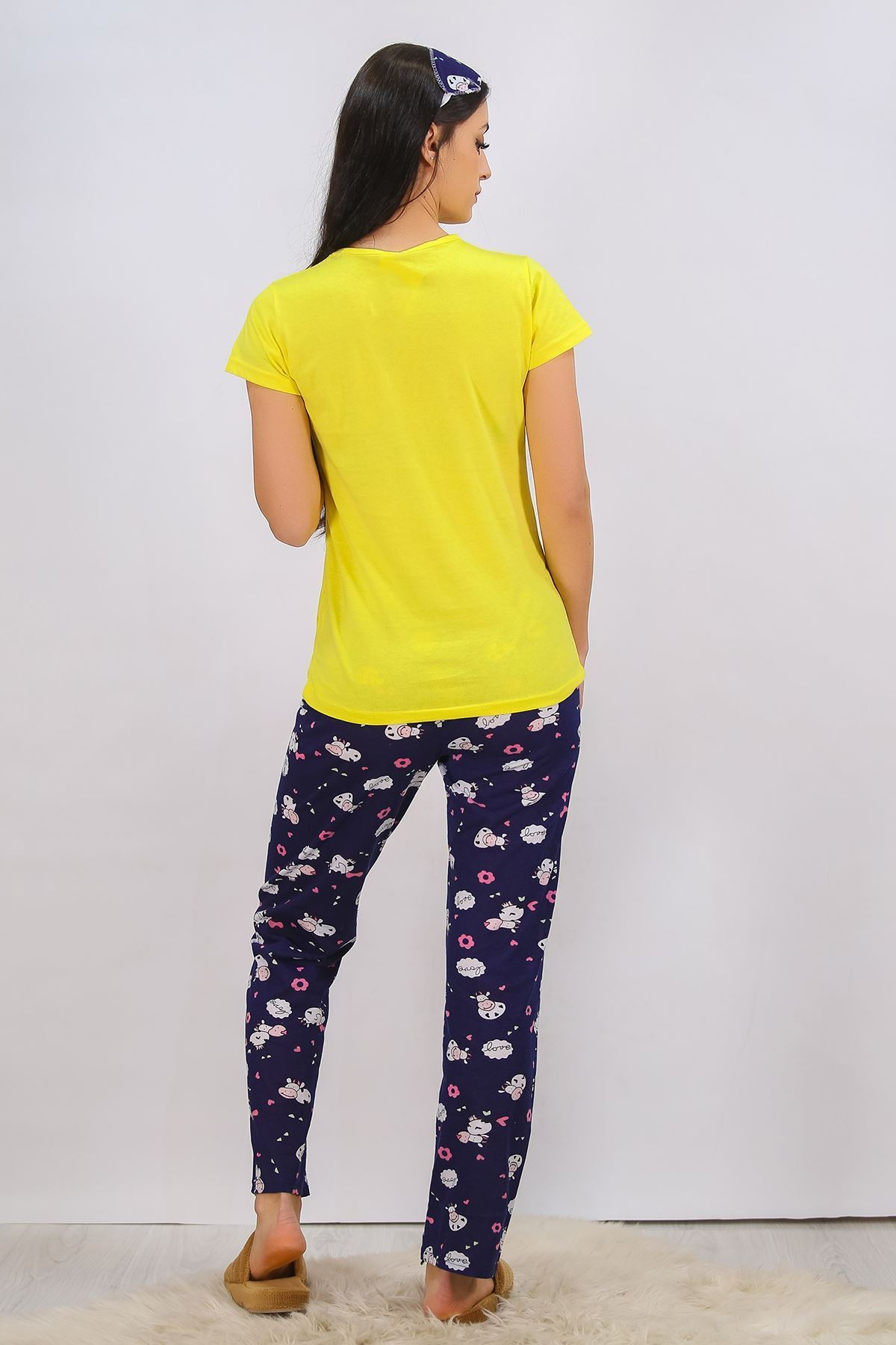 Baskılı Pijama Takımı Sarı - 4698.102.