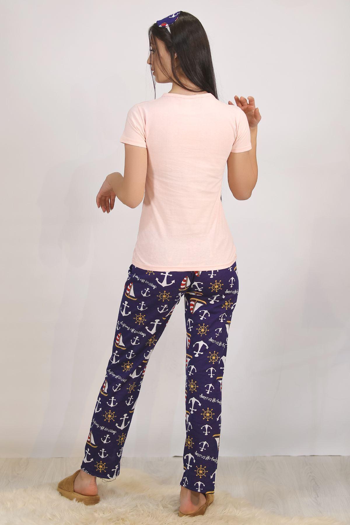 Baskılı Pijama Takımı Pembe - 4705.102.