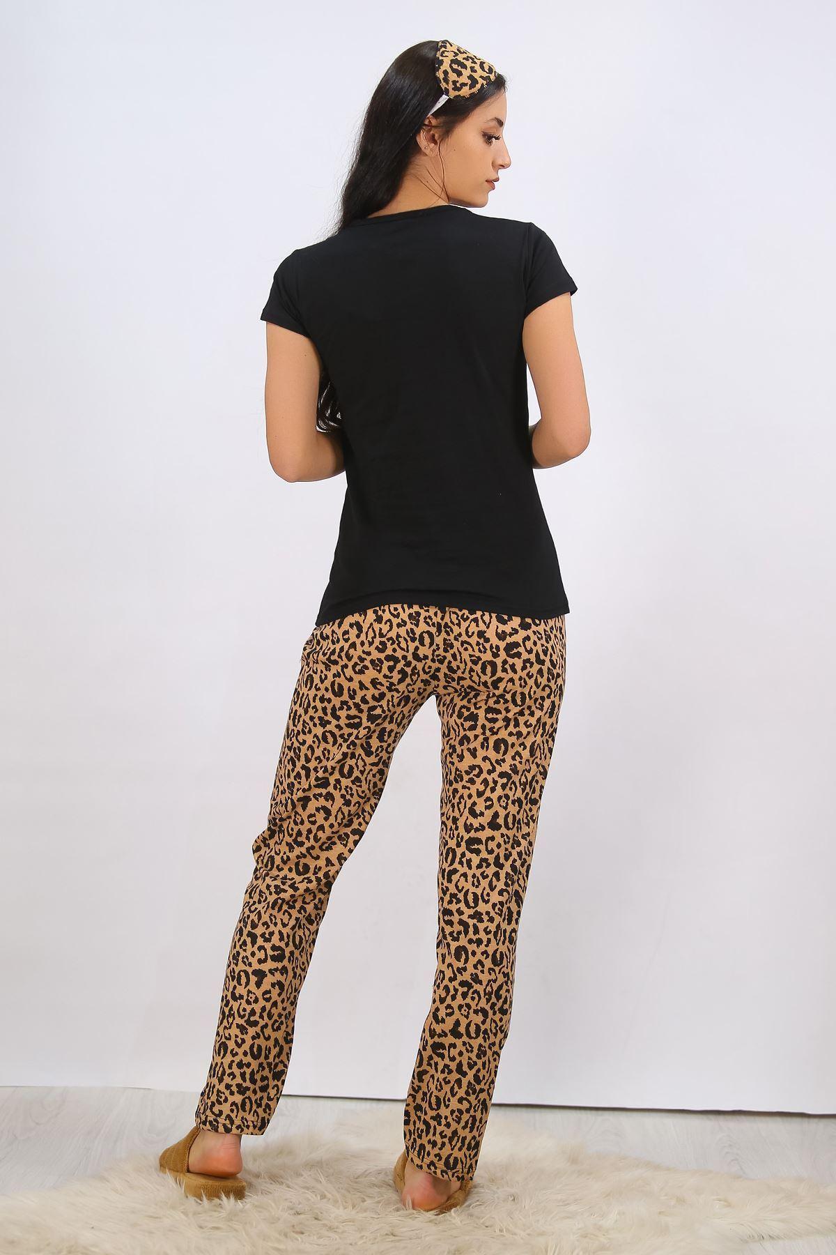Baskılı Pijama Takımı Siyah - 4710.102.