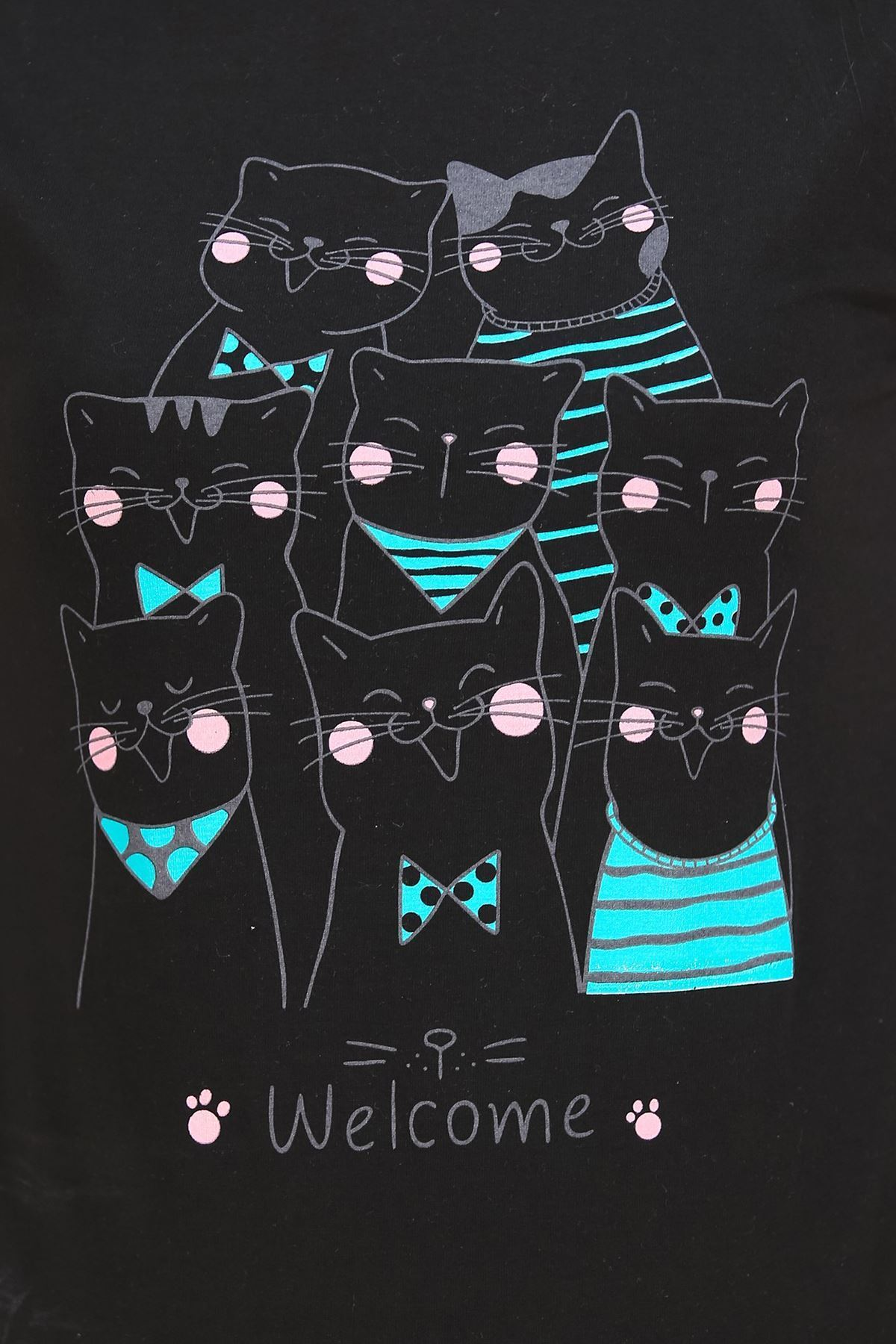 Baskılı Pijama Takımı Siyah - 4696.102.