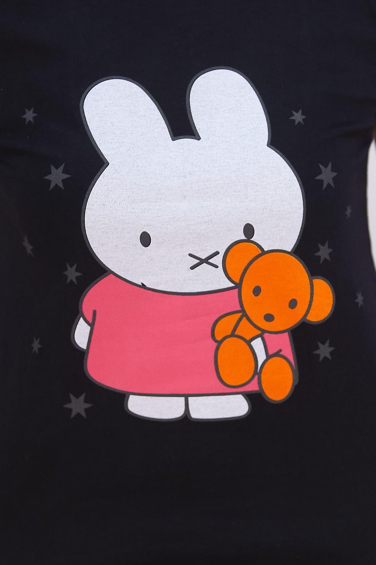 Baskılı Pijama Takımı Siyah - 4711.102.