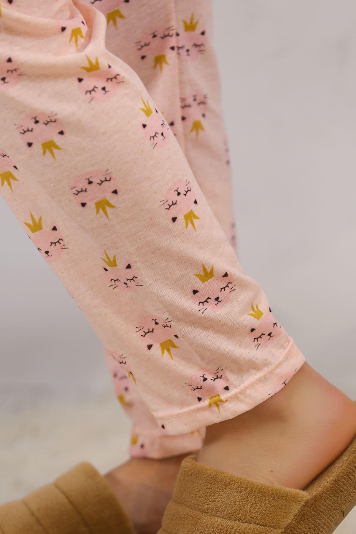Baskılı Pijama Takımı Sarı - 4708.102.