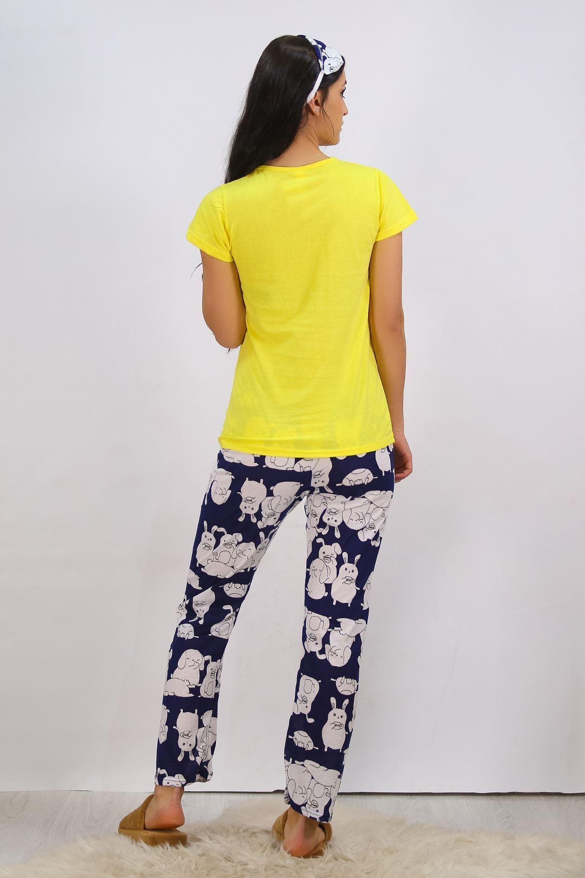 Baskılı Pijama Takımı Sarı - 4702.102.