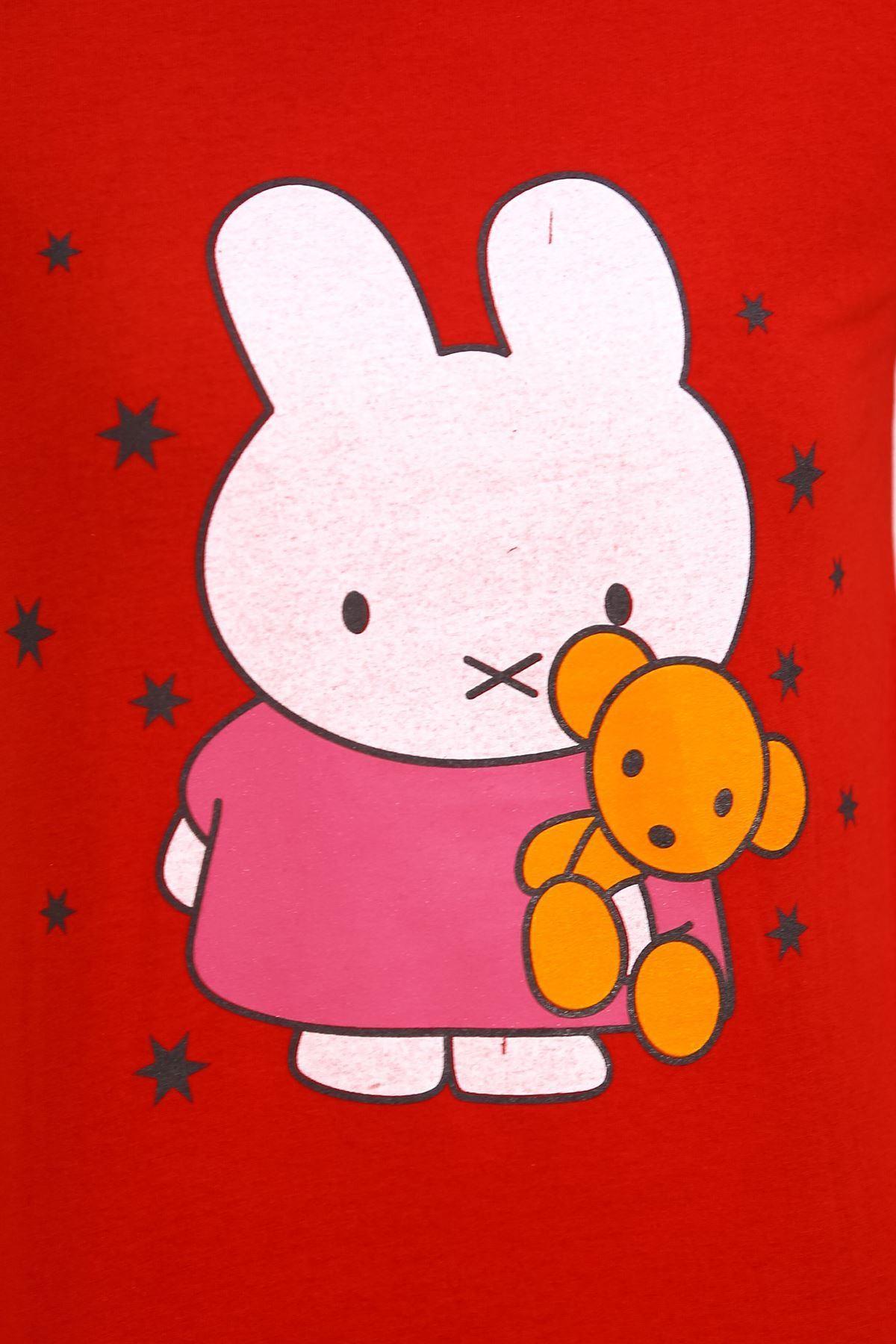 Baskılı Pijama Takımı Kırmızı - 4711.102.
