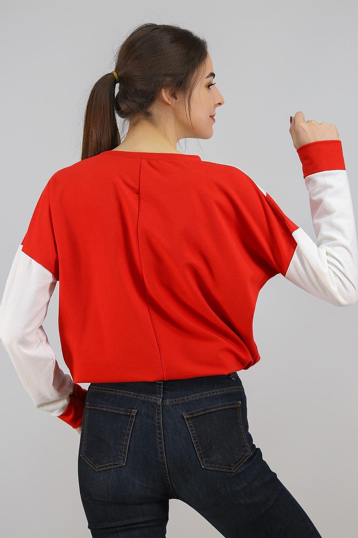 Garnili Sweat Kırmızı - 1527.1095.