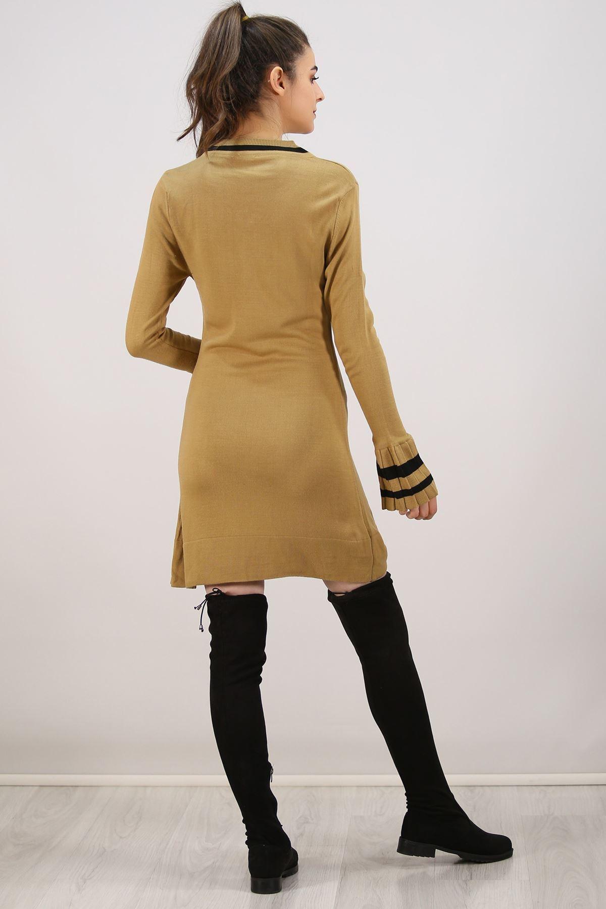 Kolu Piliseli Elbise Camel - 4811.1340.