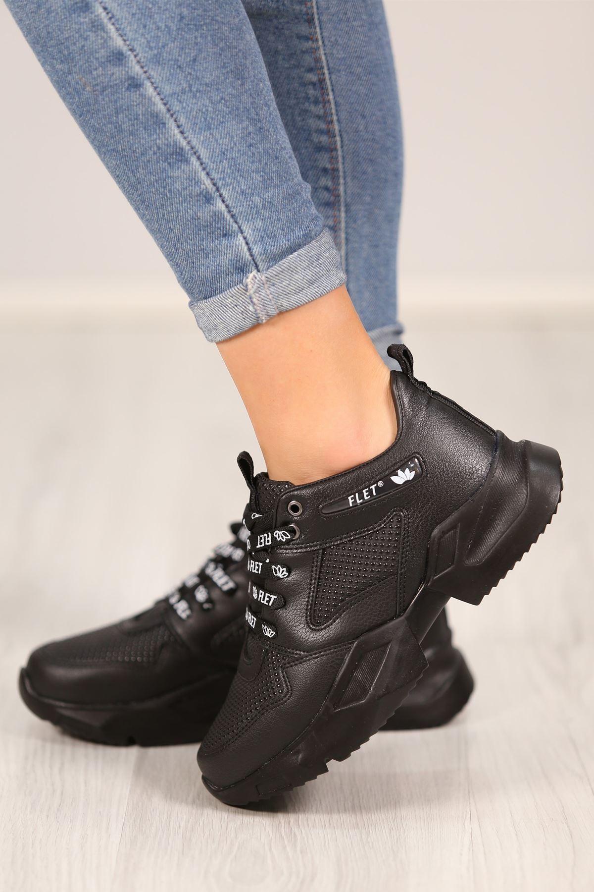 Kalın Taban Spor Ayakkabı Siyah - 4821.264.