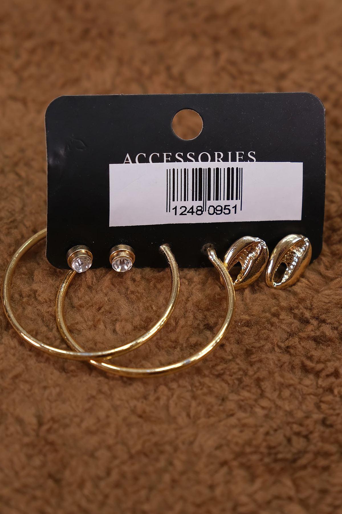 Küpe Set Gold - 4838.1303.