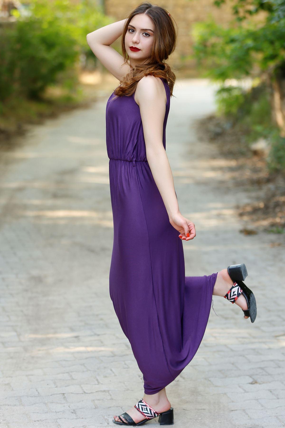 Askılı Elbise Mor - 4158.716.