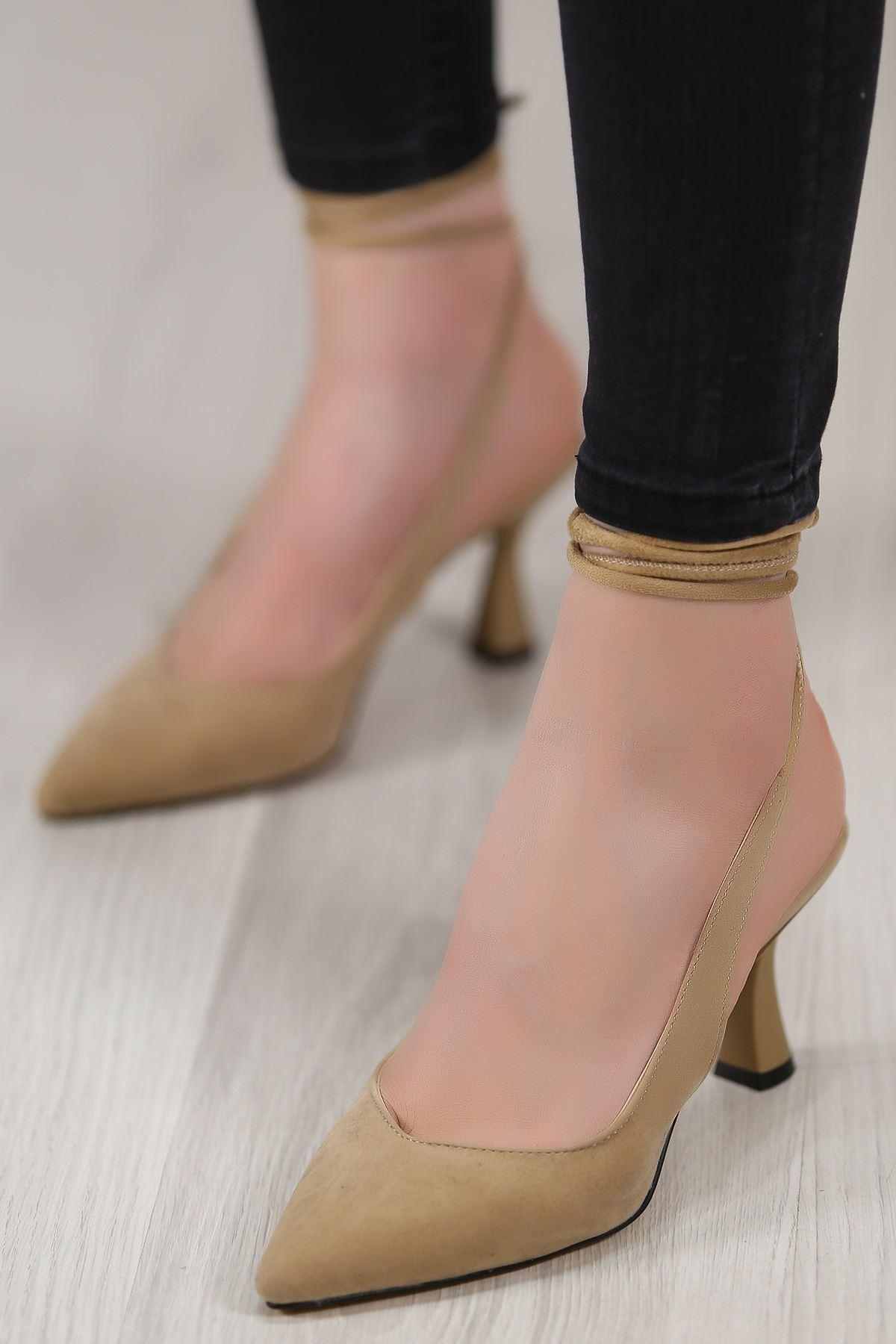 5cm Topuklu Ayakkabı Süetbej - 4867.264.