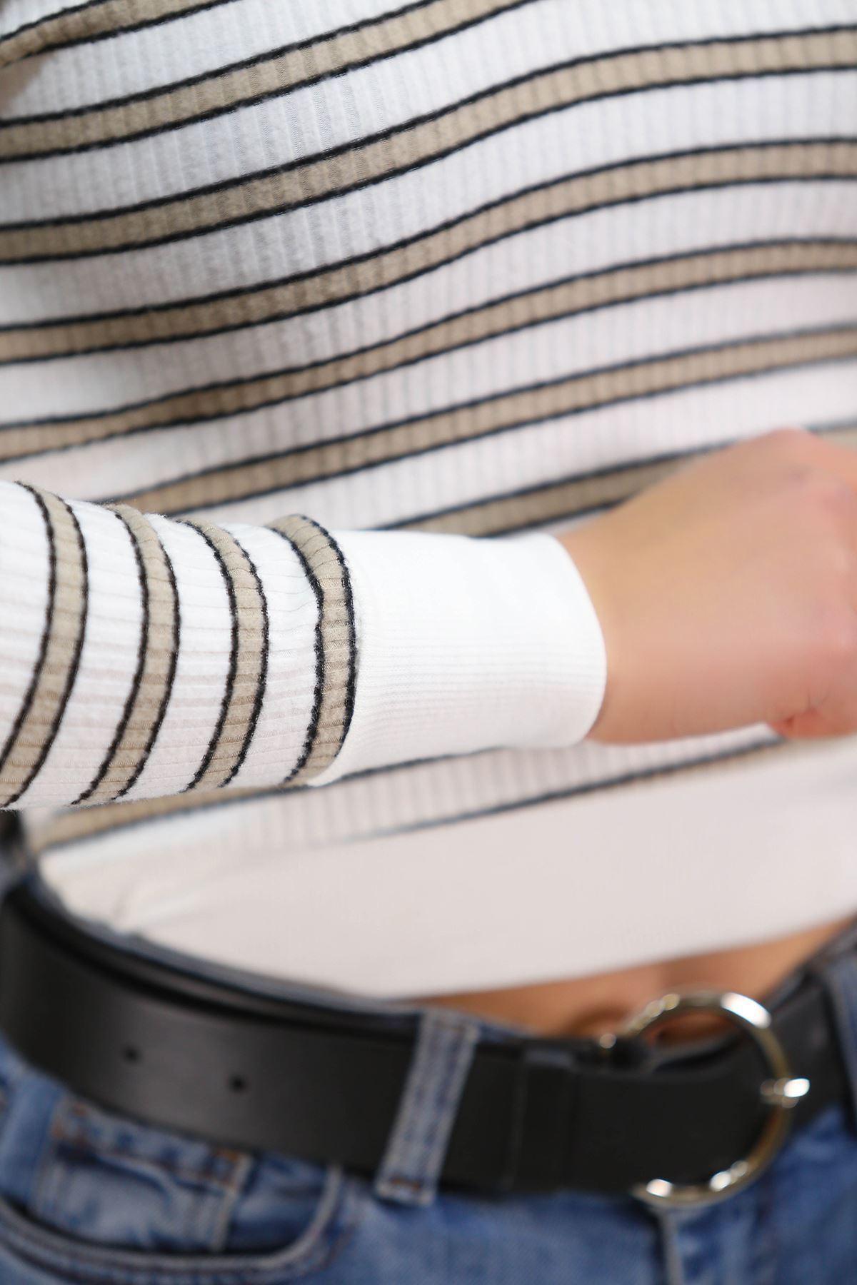 V Yaka Bluz Beyazvizon - 4786.316.