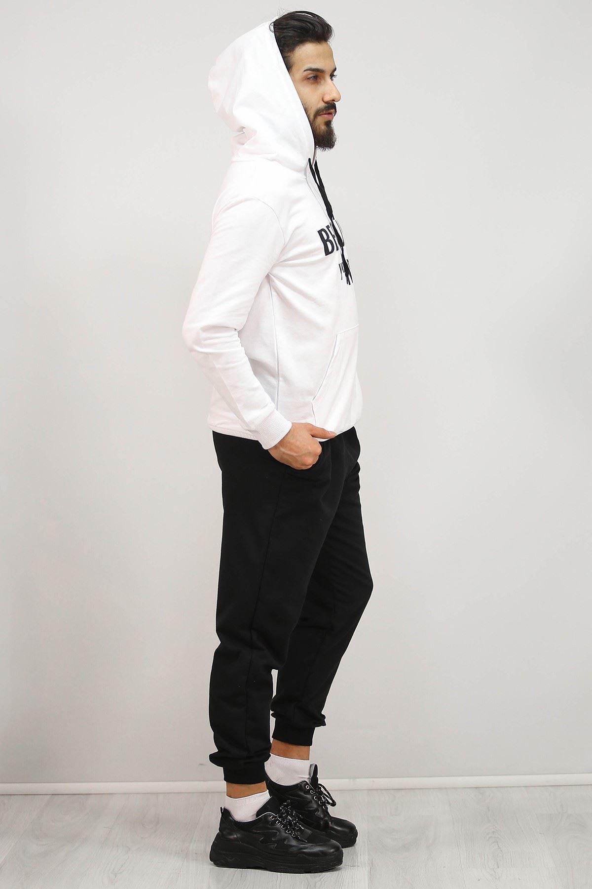 Erkek Sevgili Kombin Eşofman Takımı Beyaz - 4978.1005.