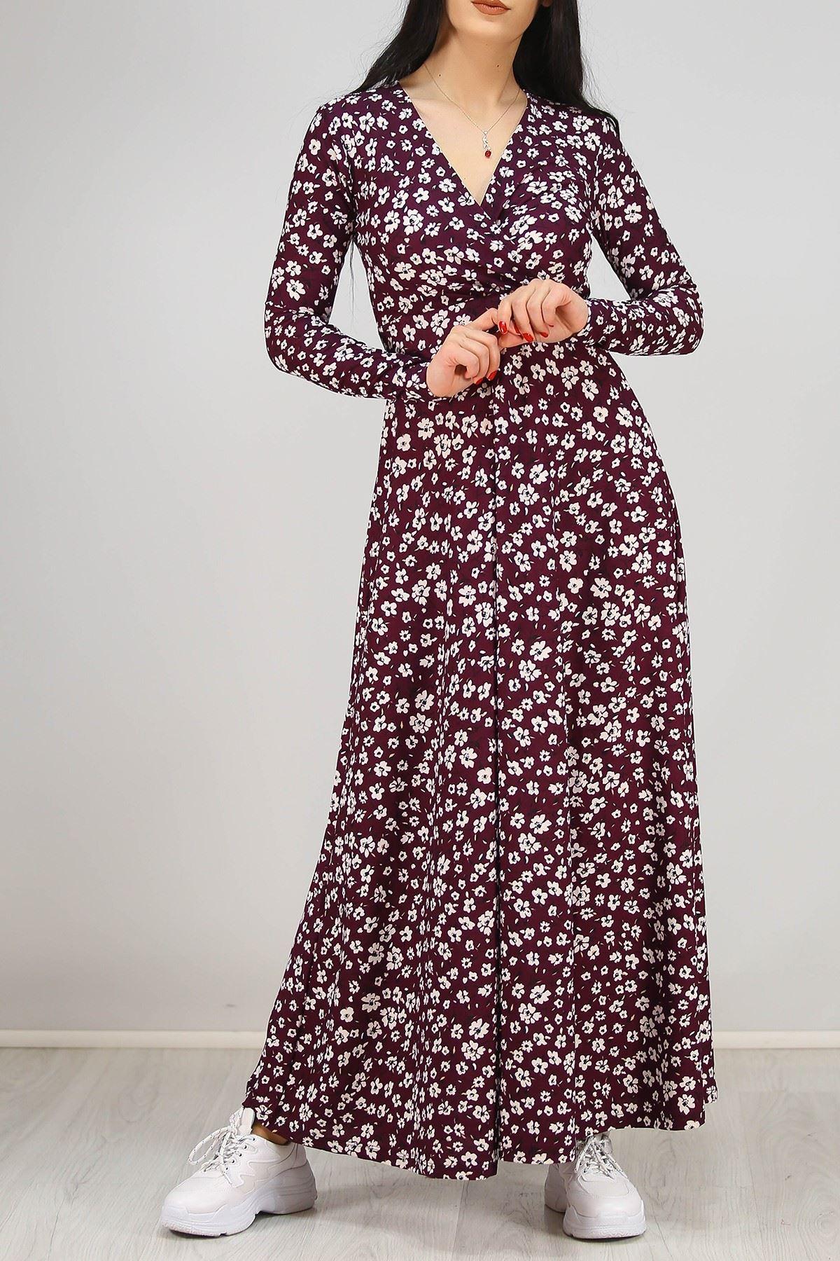 Çiçekli Elbise Mor - 4987.716.