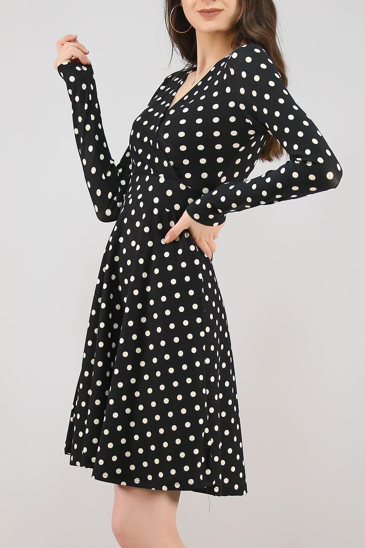 Desenli Elbise Siyahpuanlı - 4986.716.