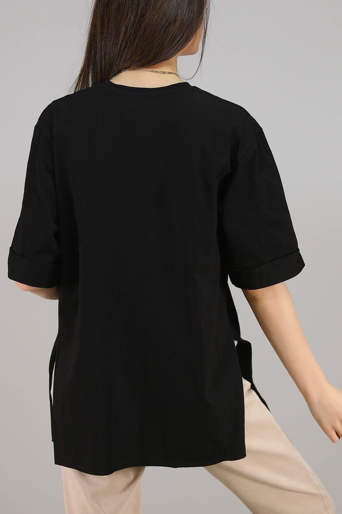 Süprem Salaş Tshirt Siyah - 2946.222.