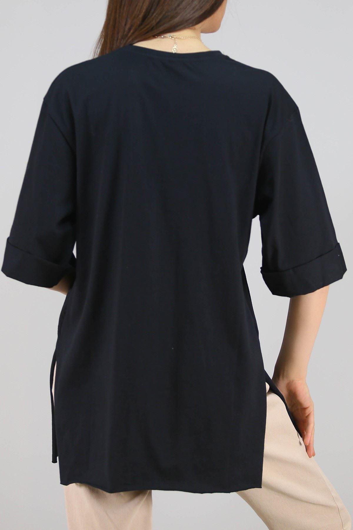 Baskılı Tişört Siyah - 3660.222.