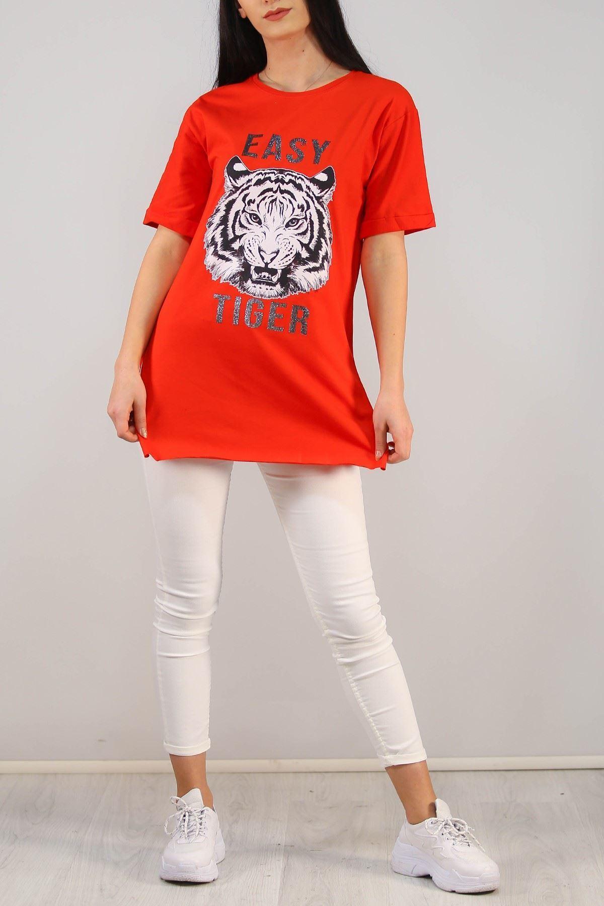 Baskılı Tişört Kırmızı - 4999.336.