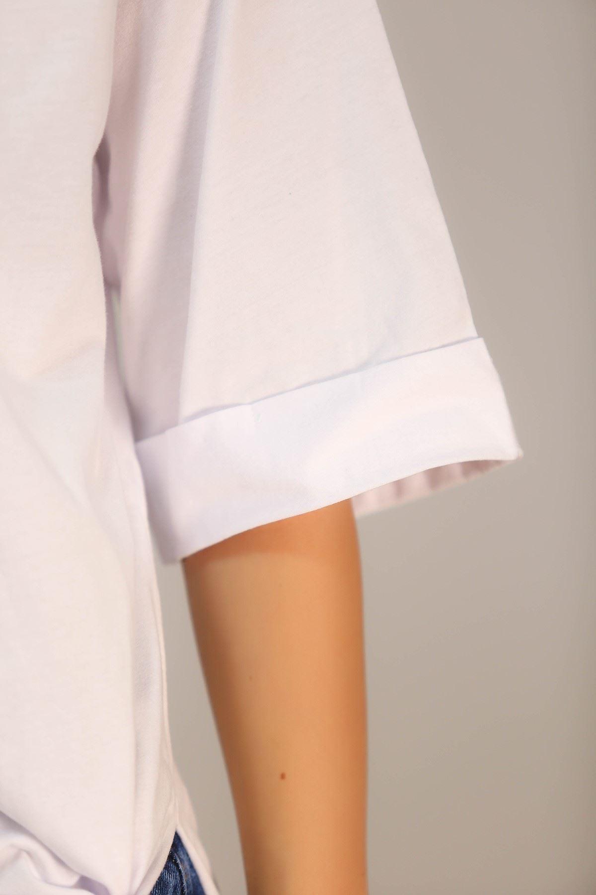 Süprem Salaş Tshirt Beyaz - 2946.222.