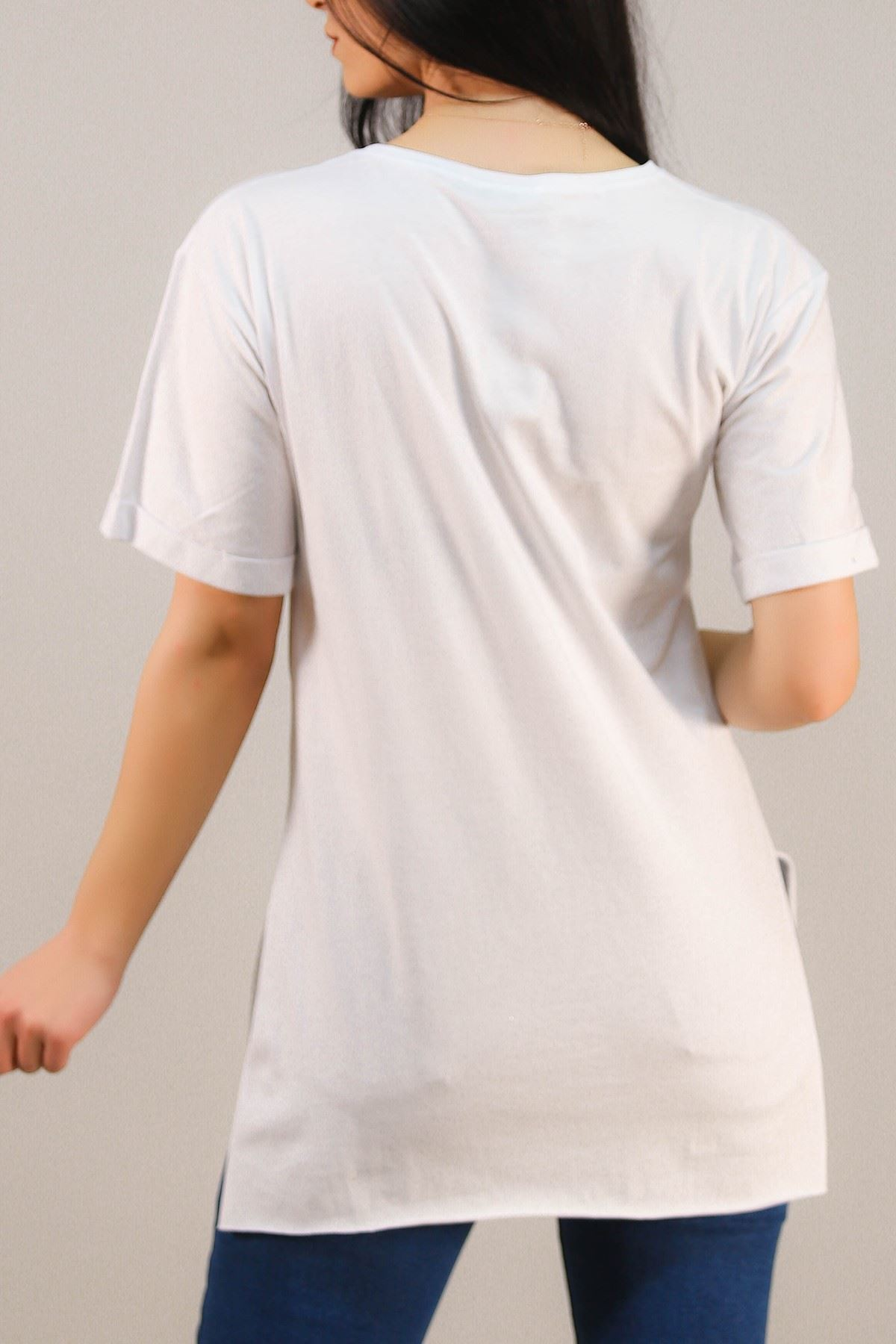 Baskılı Tişört Beyaz - 4999.336.