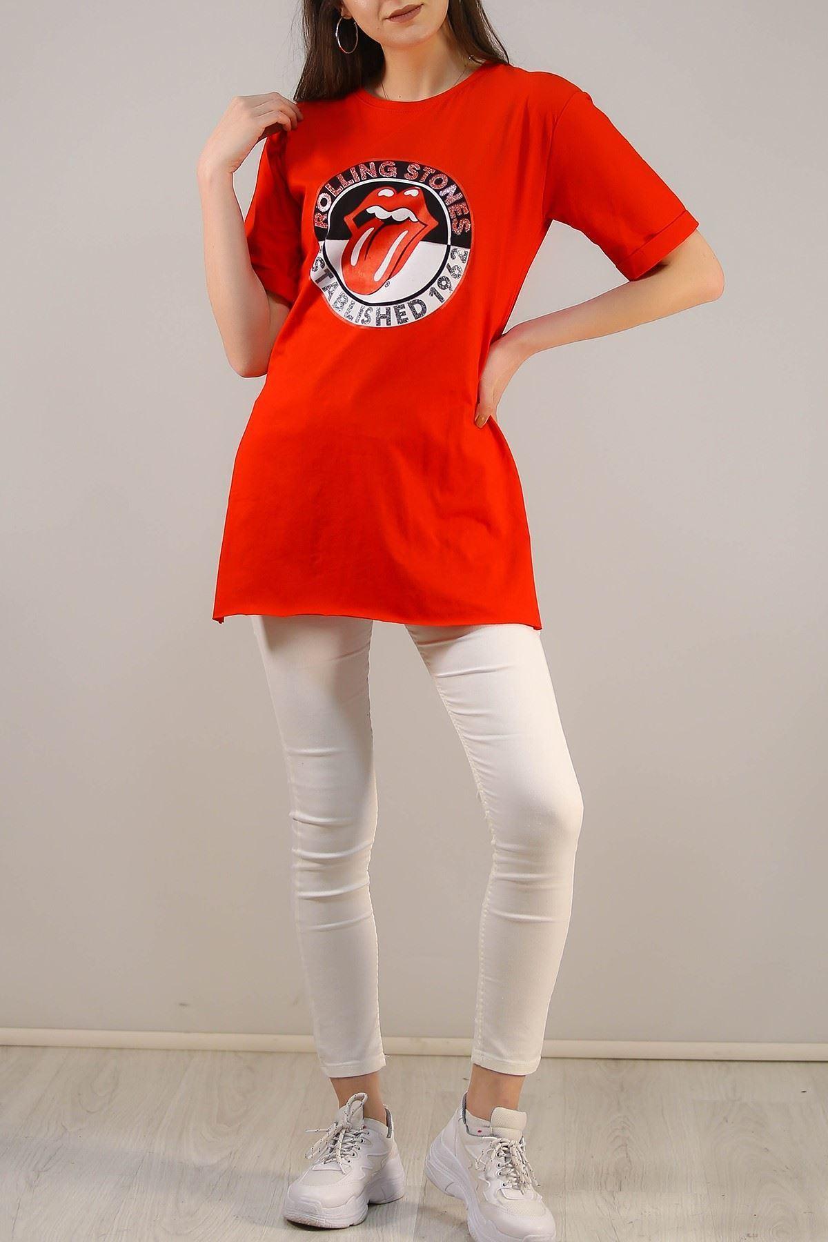 Baskılı Tişört Kırmızı - 4995.336.