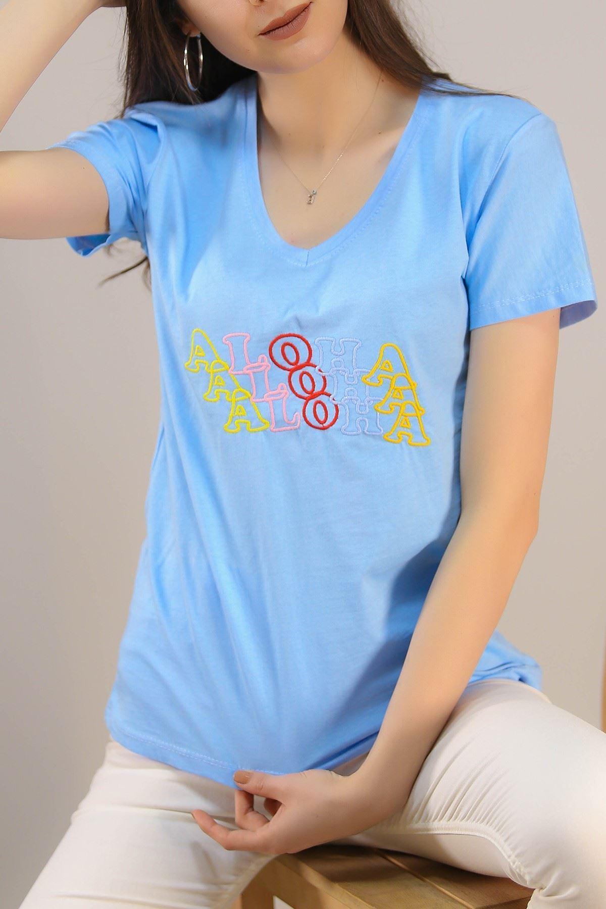 Nakışlı Tişört Bebemavi - 5001.336.