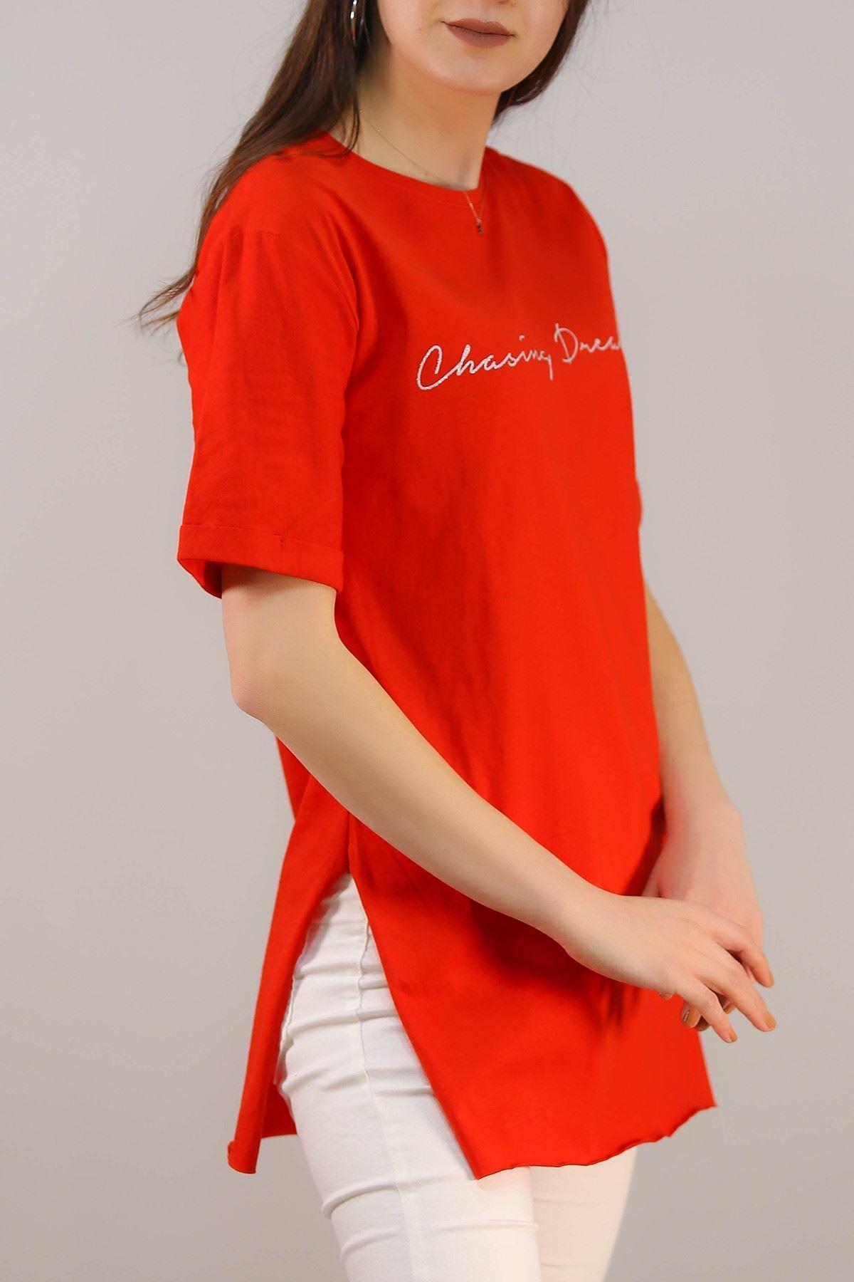 Yazılı Tişört Kırmızı - 4996.336.